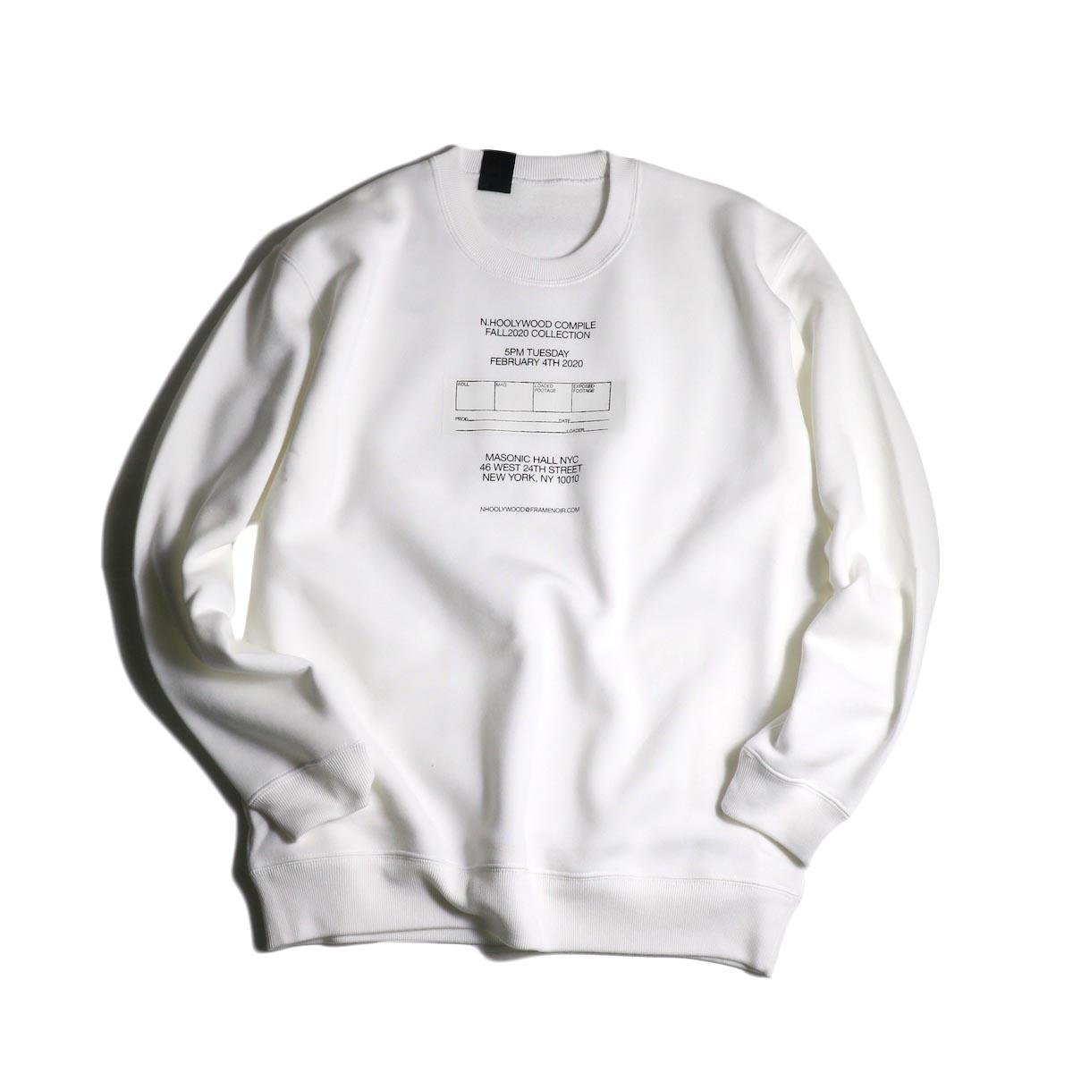 N.HOOLYWOOD / 2202-CS81-033 Sweat Shirt (White)