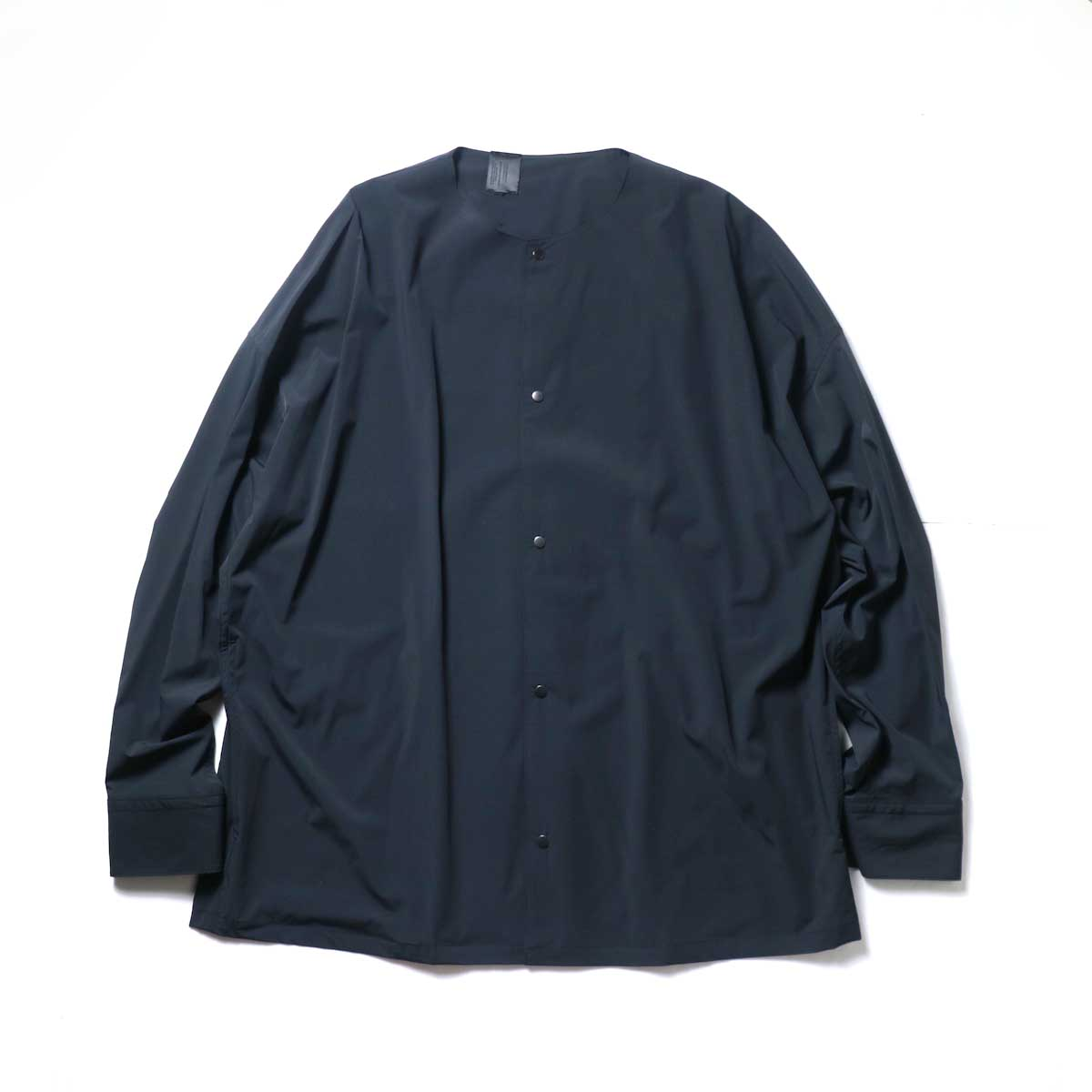 N.HOOLYWOOD / 2211-SH25-006 peg Collarless Shirt (Black)