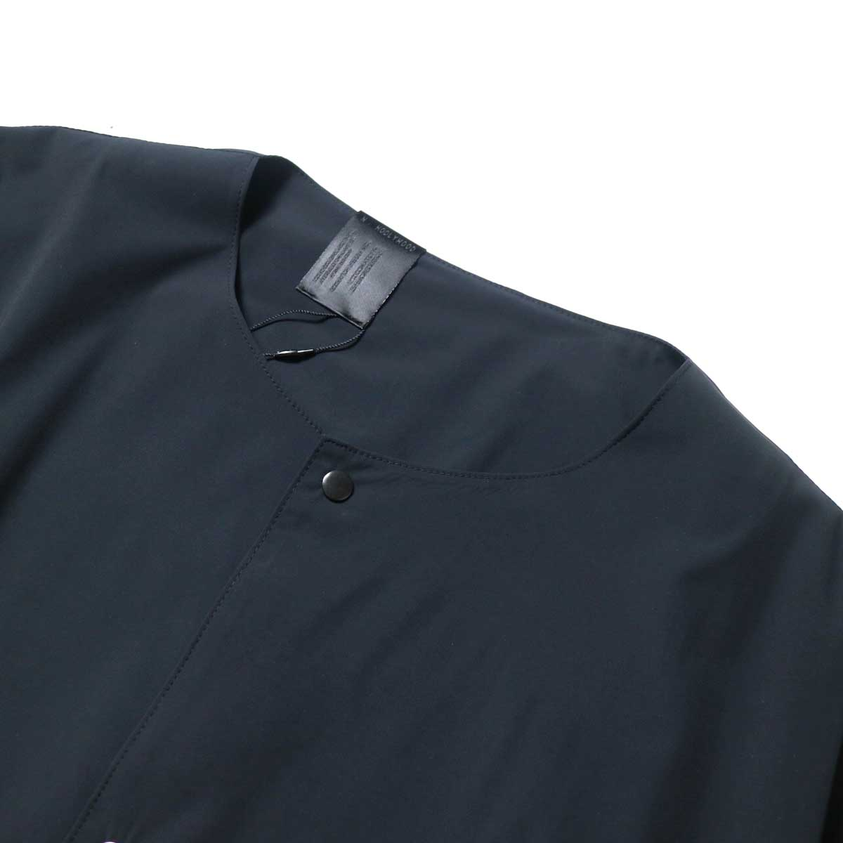 N.HOOLYWOOD / 2211-SH25-006 peg Collarless Shirt (Black)ノーカラー