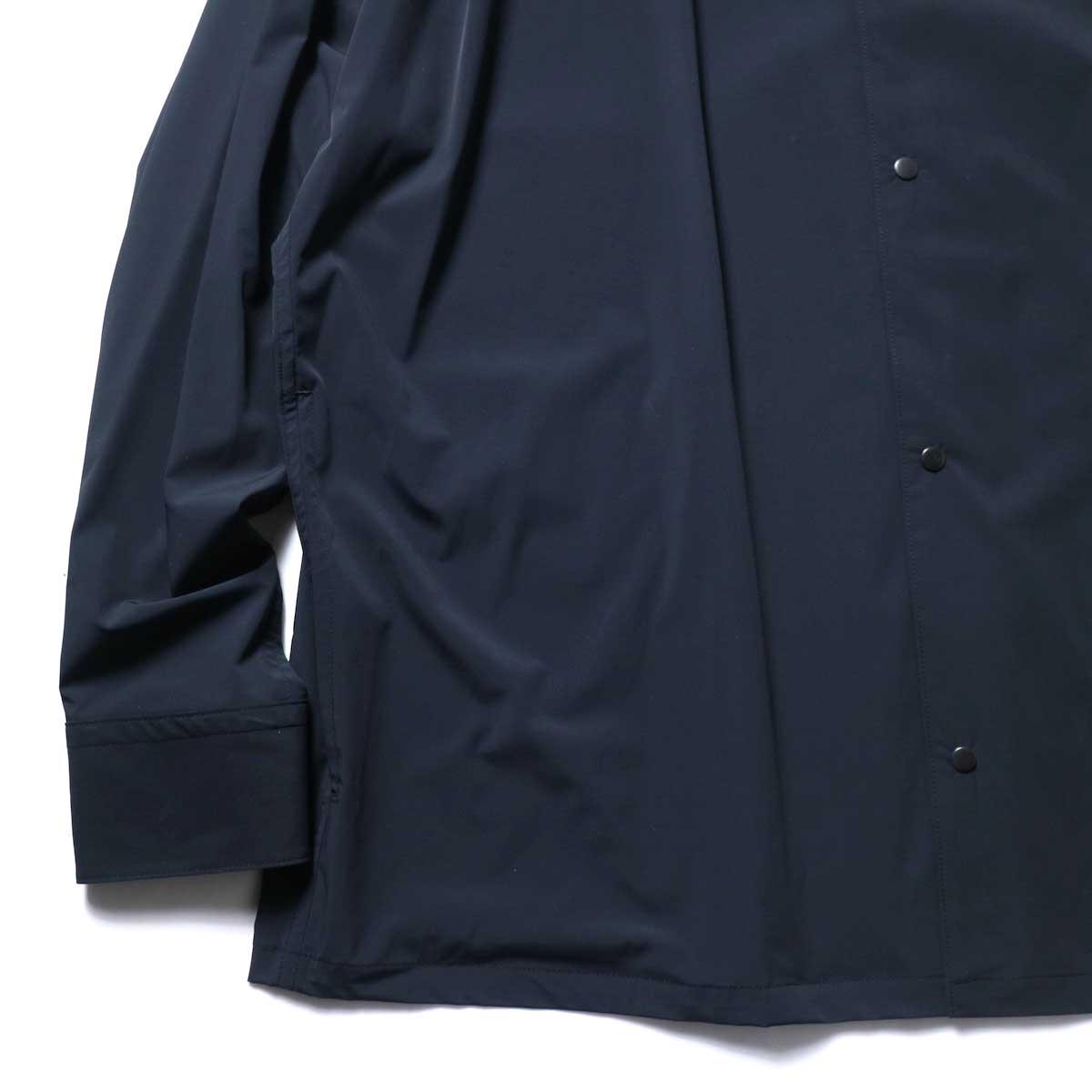 N.HOOLYWOOD / 2211-SH25-006 peg Collarless Shirt (Black)袖、裾