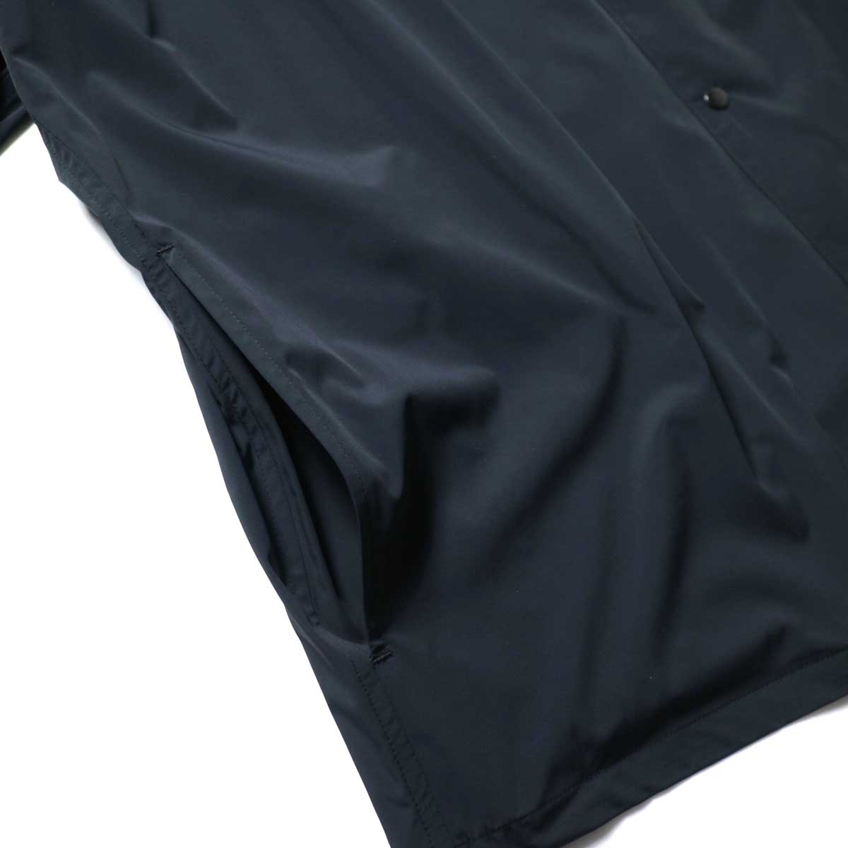 N.HOOLYWOOD / 2211-SH25-006 peg Collarless Shirt (Black)ポケット