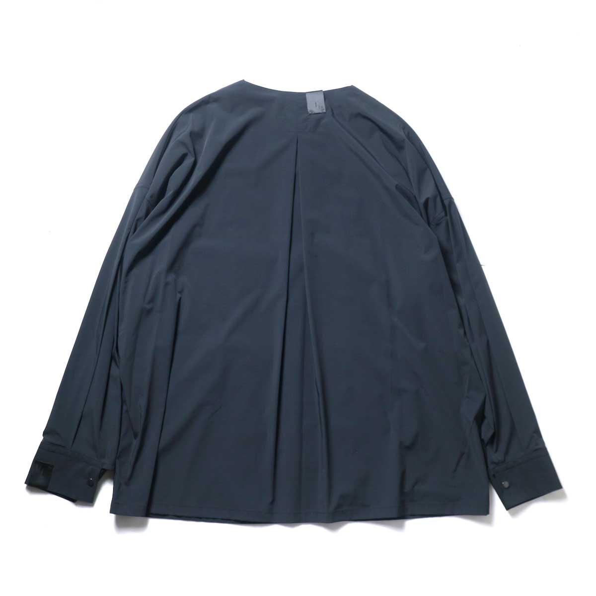N.HOOLYWOOD / 2211-SH25-006 peg Collarless Shirt (Black)背面
