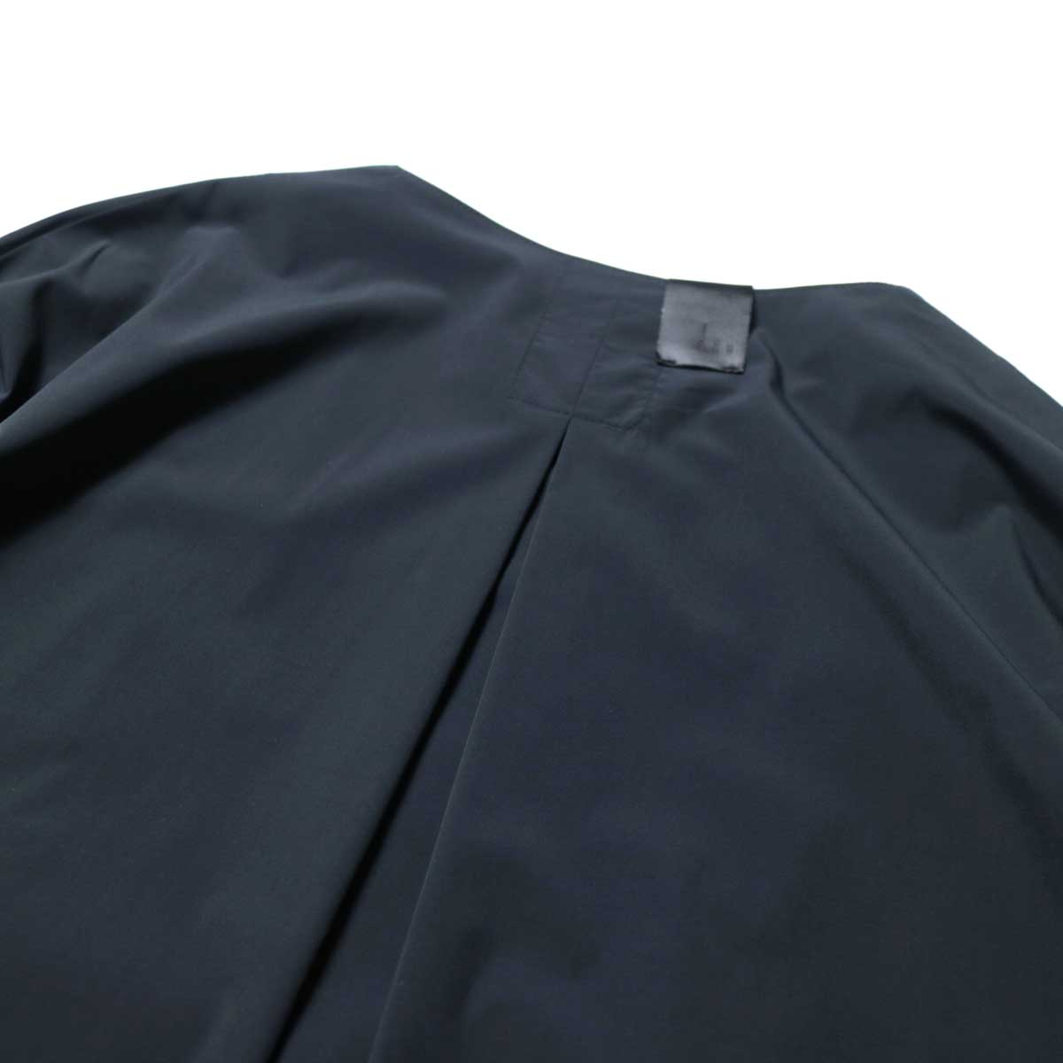 N.HOOLYWOOD / 2211-SH25-006 peg Collarless Shirt (Black)プリーツ