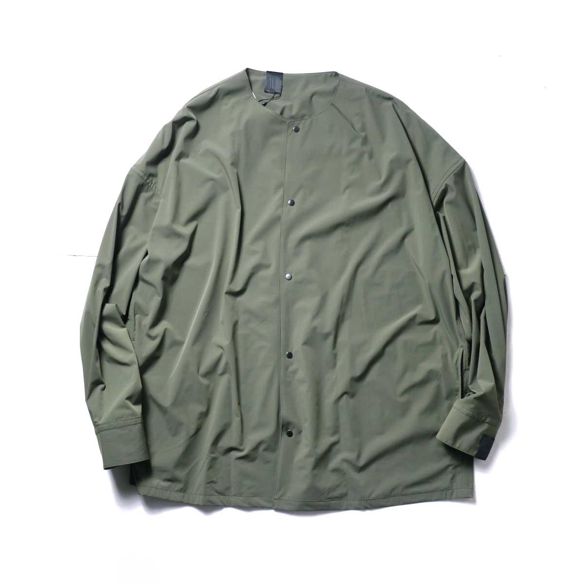 N.HOOLYWOOD / 2211-SH25-006 peg Collarless Shirt (Khaki)正面