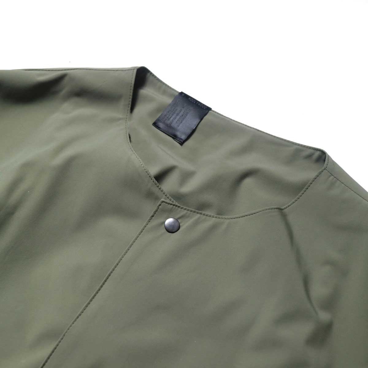 N.HOOLYWOOD / 2211-SH25-006 peg Collarless Shirt (Khaki)ノーカラー