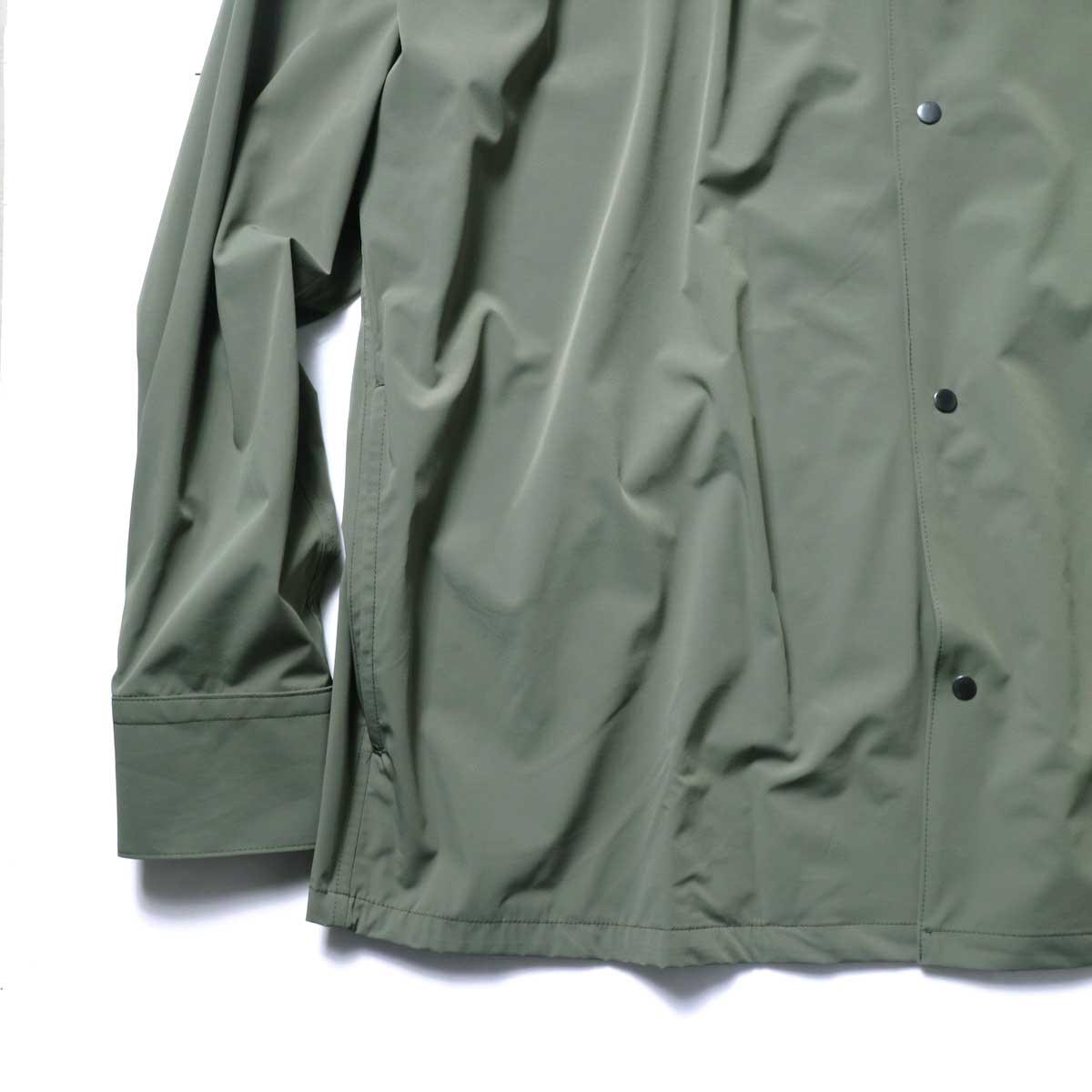 N.HOOLYWOOD / 2211-SH25-006 peg Collarless Shirt (Khaki)袖、裾