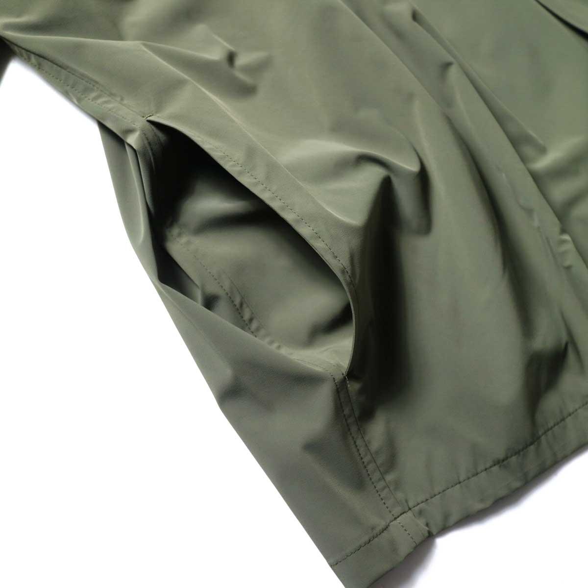 N.HOOLYWOOD / 2211-SH25-006 peg Collarless Shirt (Khaki)ポケット