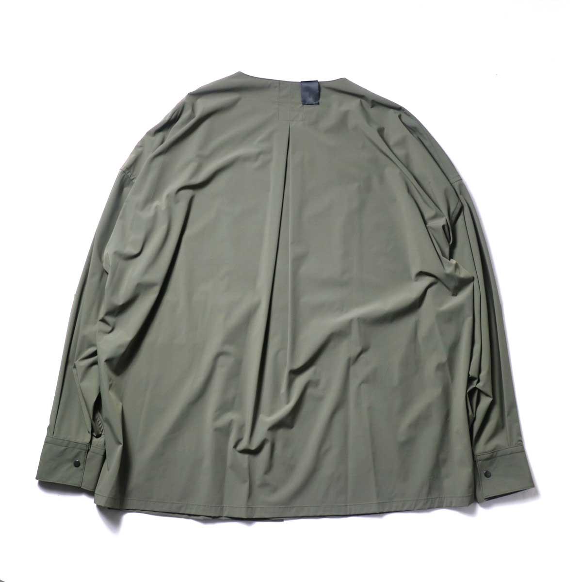 N.HOOLYWOOD / 2211-SH25-006 peg Collarless Shirt (Khaki)背面