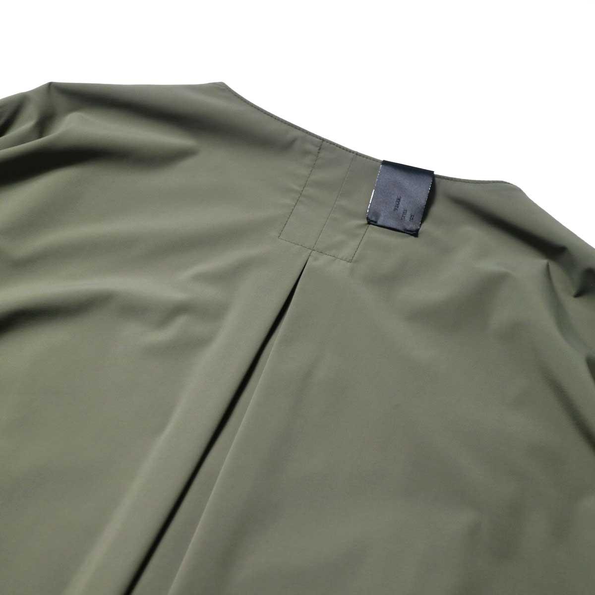 N.HOOLYWOOD / 2211-SH25-006 peg Collarless Shirt (Khaki)プリーツ