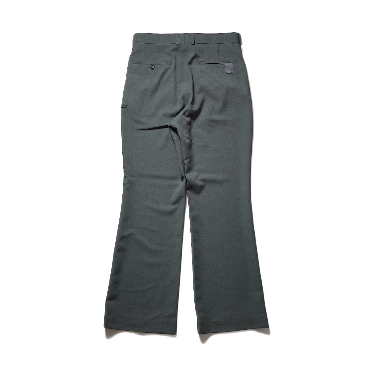 N.HOOLYWOOD / 2212-PT21-008 Flair Slacks (Charcoal)背面