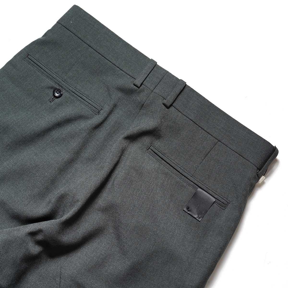 N.HOOLYWOOD / 2212-PT21-008 Flair Slacks (Charcoal)ヒップポケット