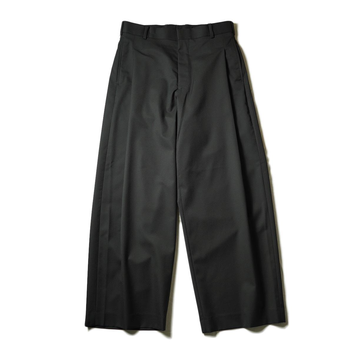 N.HOOLYWOOD / 2212-PT25-022 1TUCK SLACKS (Black)正面