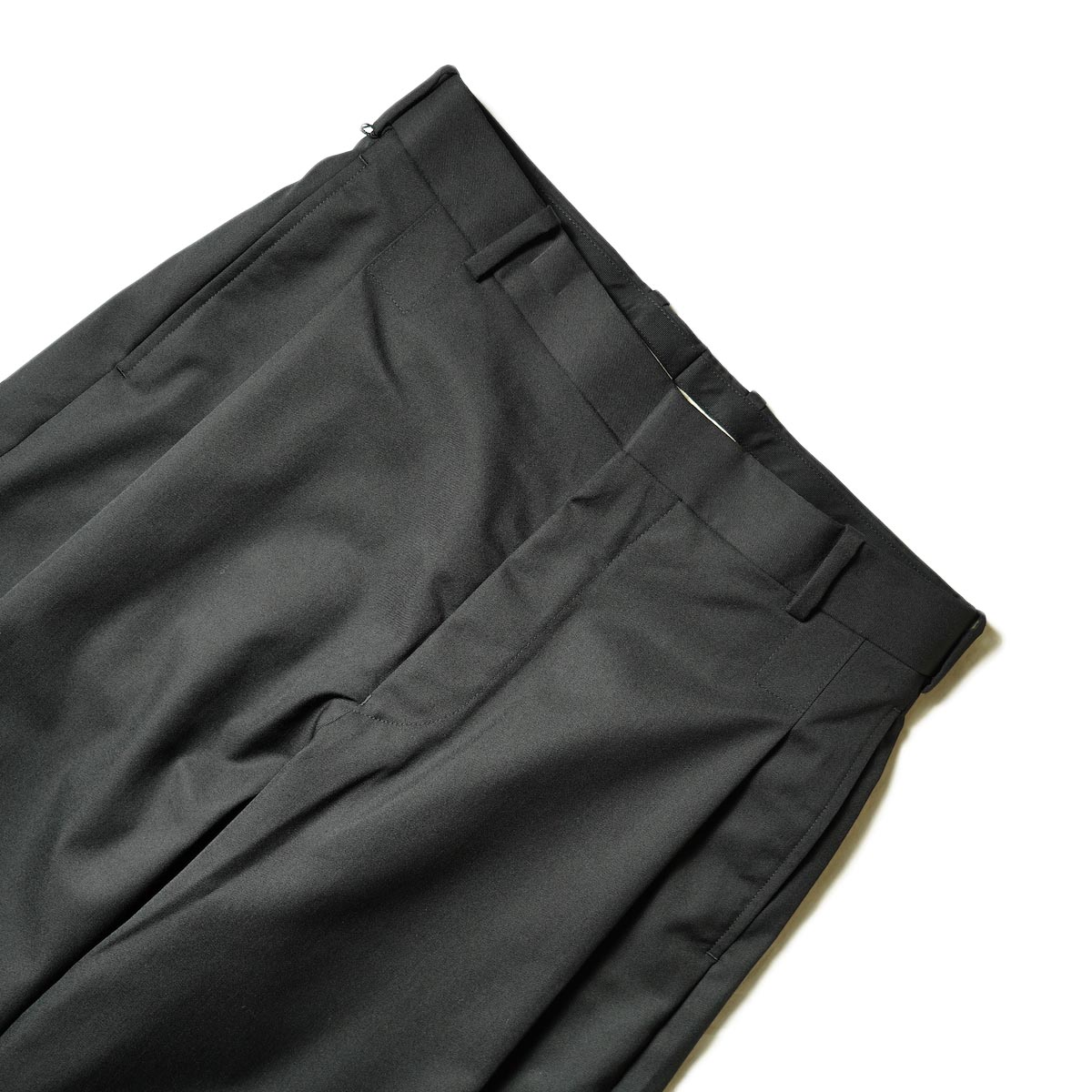 N.HOOLYWOOD / 2212-PT25-022 1TUCK SLACKS (Black)ウエスト