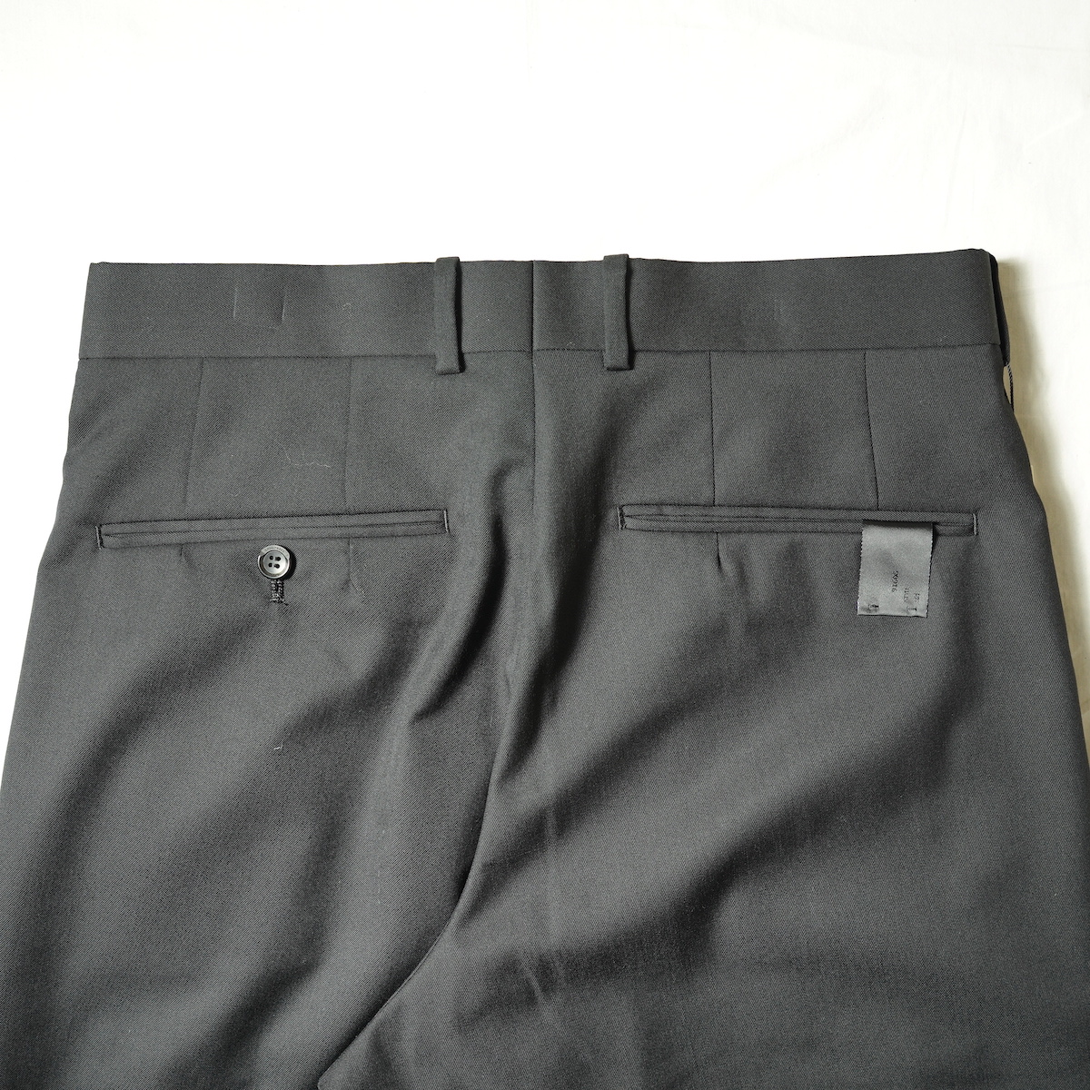 N.HOOLYWOOD / 2212-PT25-022 1TUCK SLACKS (Black)ヒップポケット