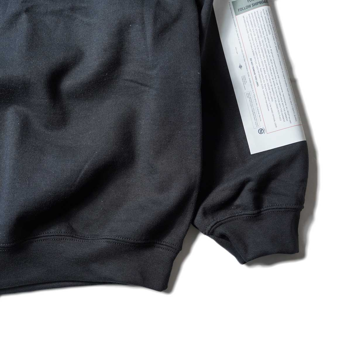 N.HOOLYWOOD / 9212-CS85 Crew Neck Sweat Shirt (Black)袖、裾