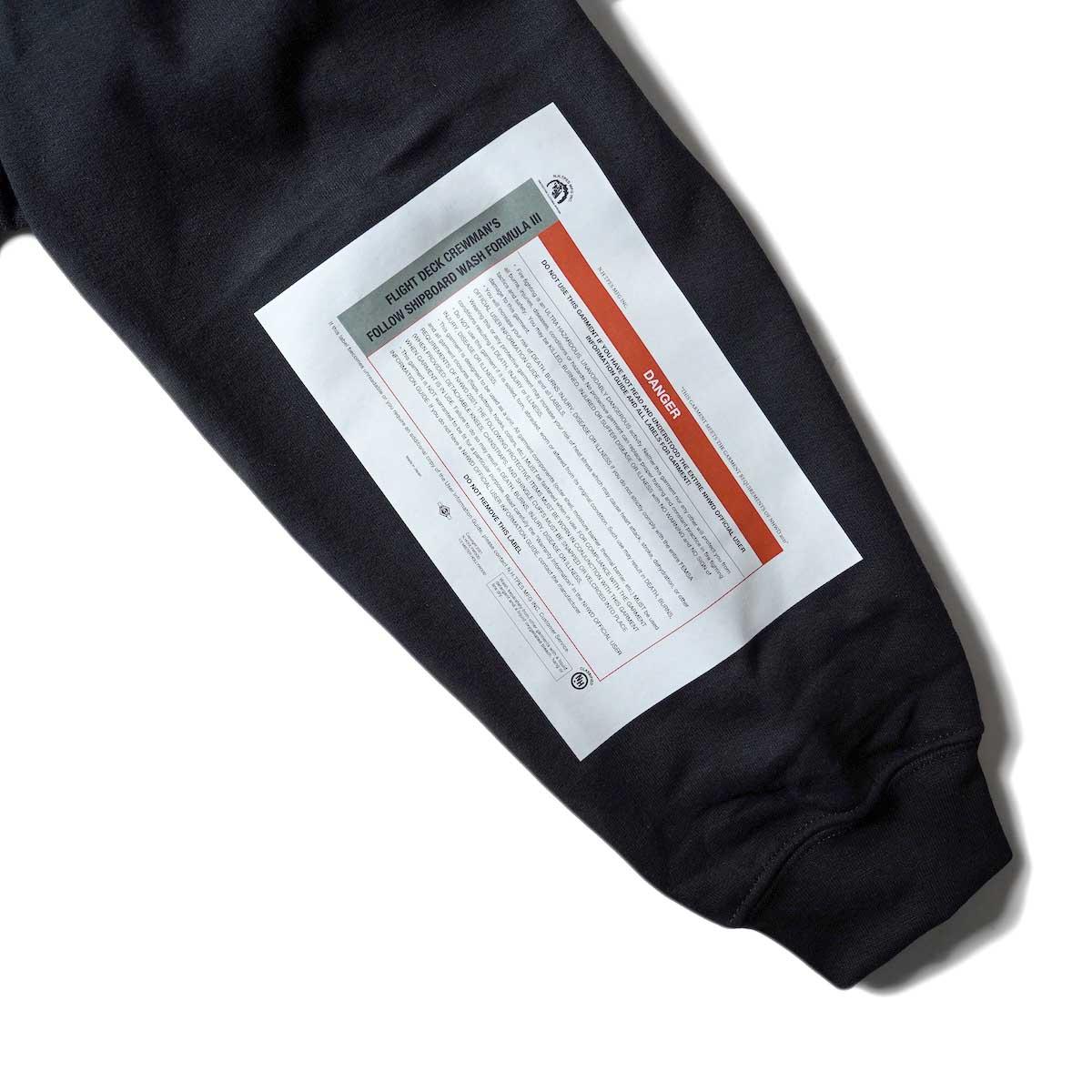 N.HOOLYWOOD / 9212-CS85 Crew Neck Sweat Shirt (Black) 左袖プリント