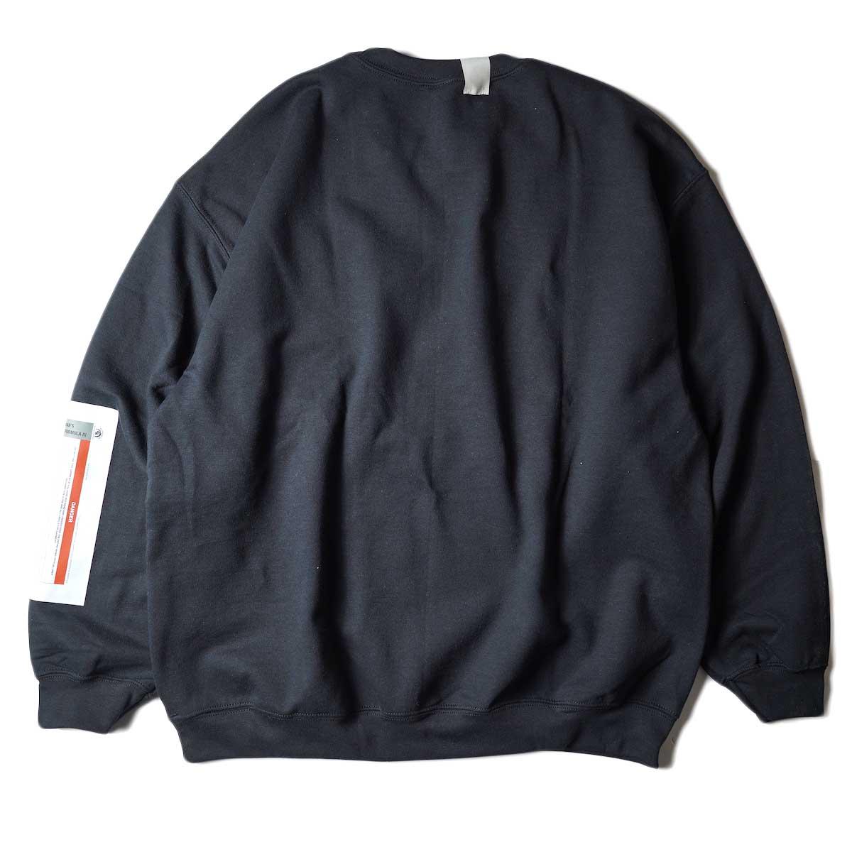 N.HOOLYWOOD / 9212-CS85 Crew Neck Sweat Shirt (Black)背面
