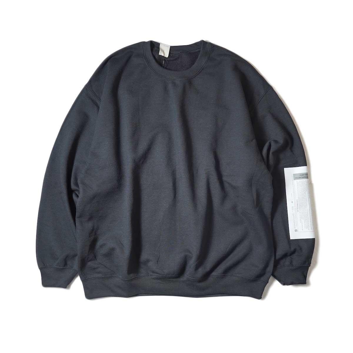 N.HOOLYWOOD / 9212-CS85 Crew Neck Sweat Shirt (Black)正面