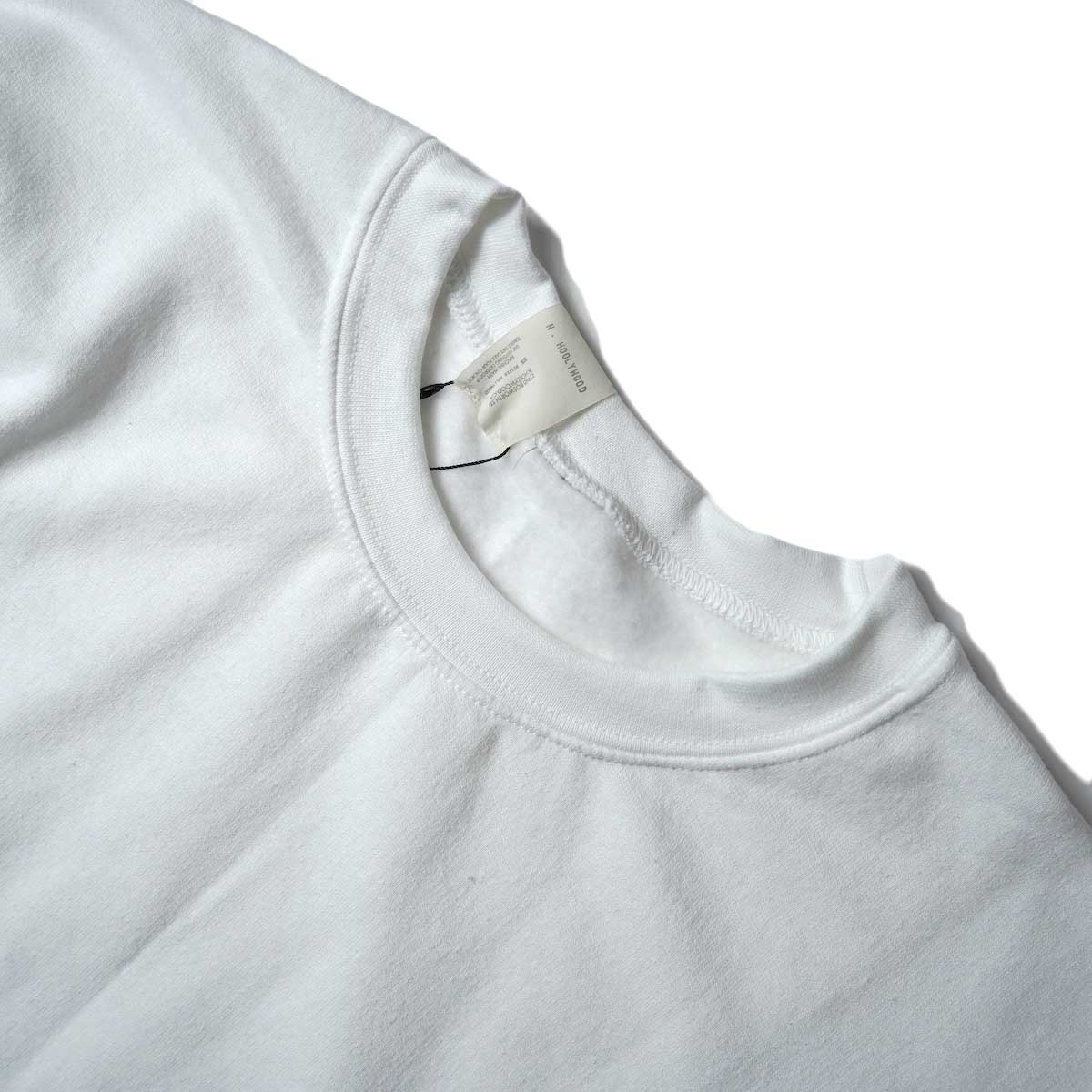 N.HOOLYWOOD / 9212-CS85 Crew Neck Sweat Shirt (White)襟