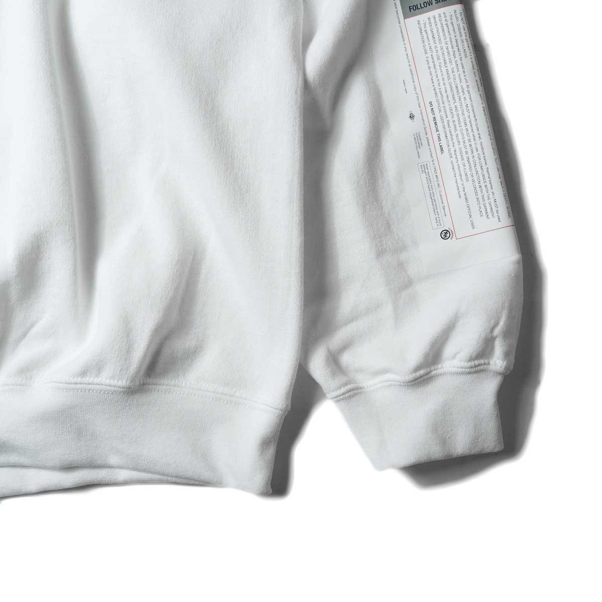 N.HOOLYWOOD / 9212-CS85 Crew Neck Sweat Shirt (White)袖、裾