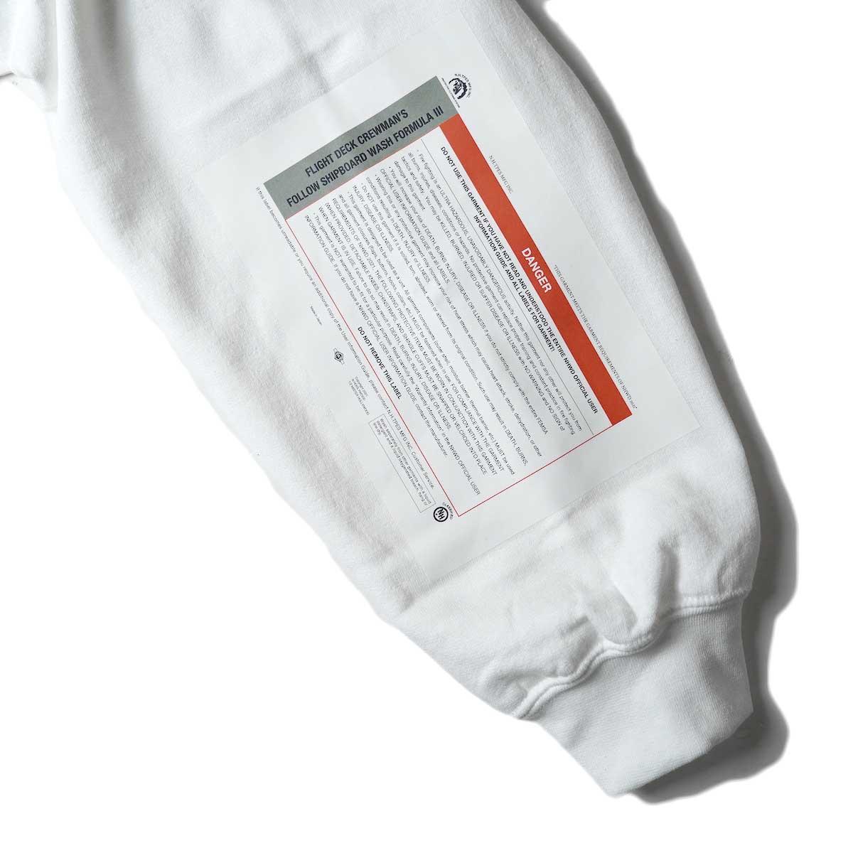 N.HOOLYWOOD / 9212-CS85 Crew Neck Sweat Shirt (White)左袖プリント