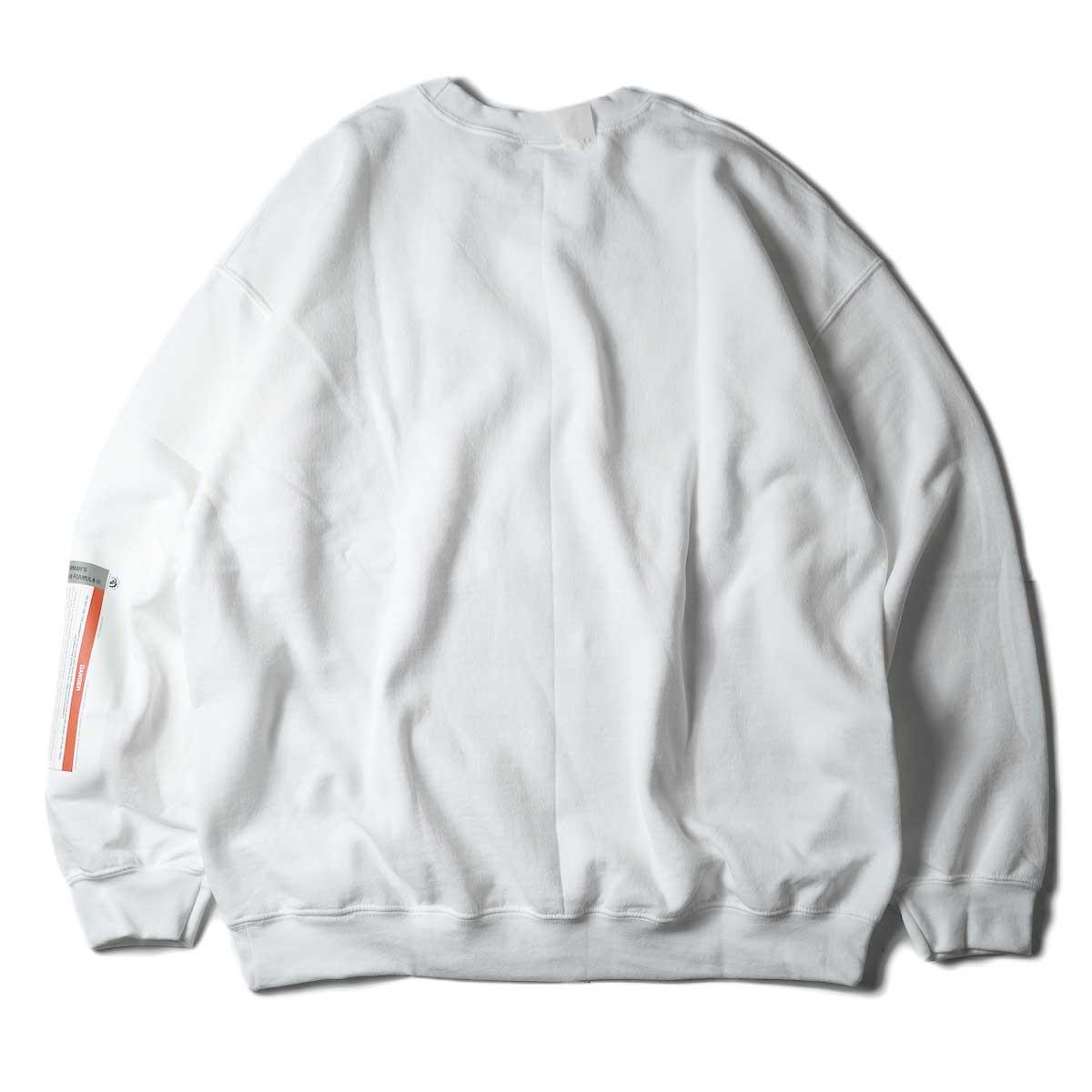 N.HOOLYWOOD / 9212-CS85 Crew Neck Sweat Shirt (White)背面