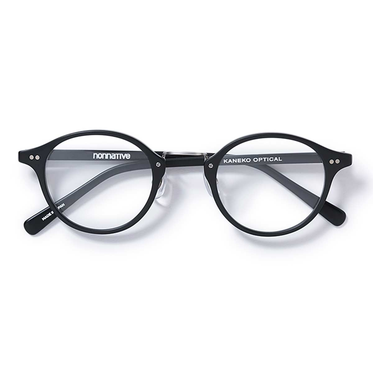 nonnative / DWELLER GLASSE by KANEKO OPTICAL -BLACK