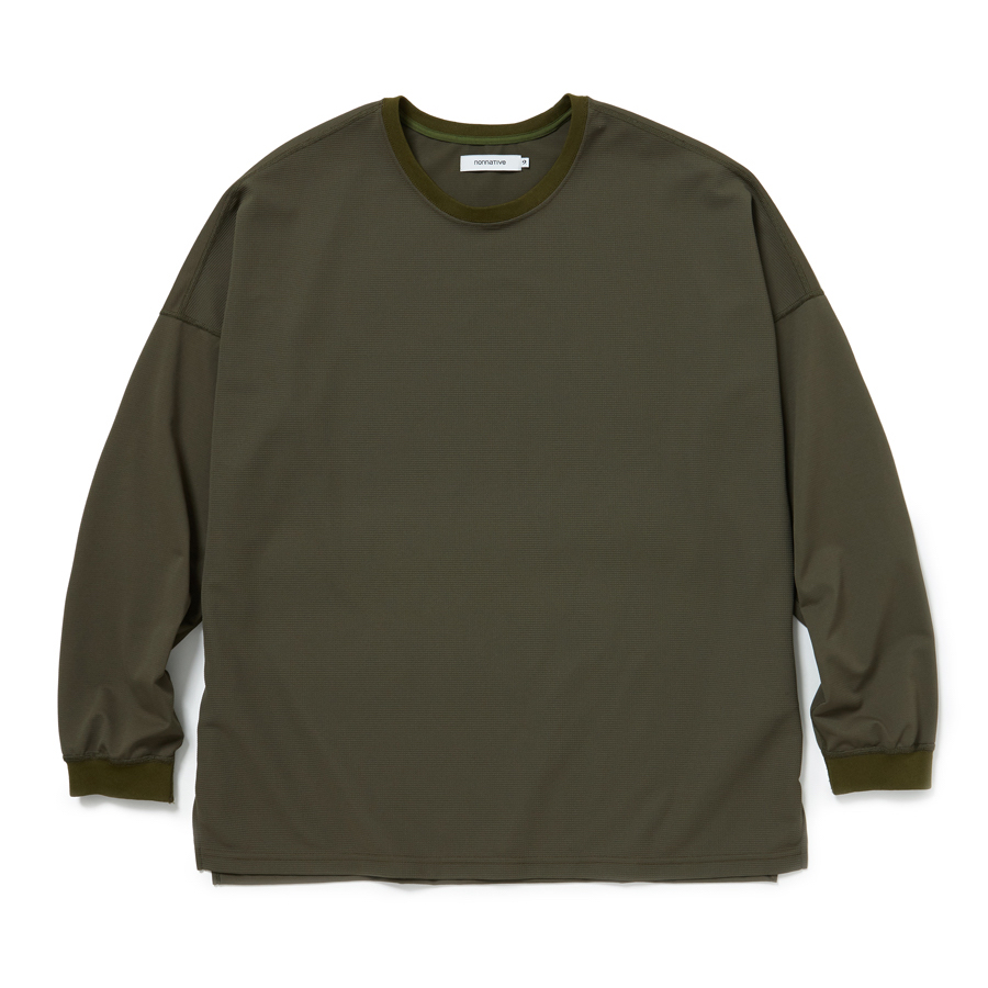 nonnative / CLERK L/S TEE POLY MESH -olive