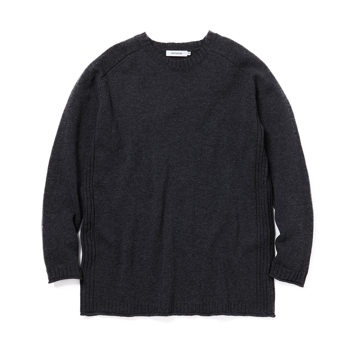 nonnative / HIKER SWEATER W/C YARN -CHARCOAL