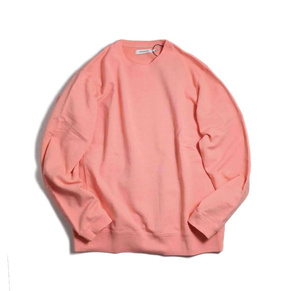 nonnative / COACH CREW PULLOVER COTTON SWEAT OVERDYED -Pink