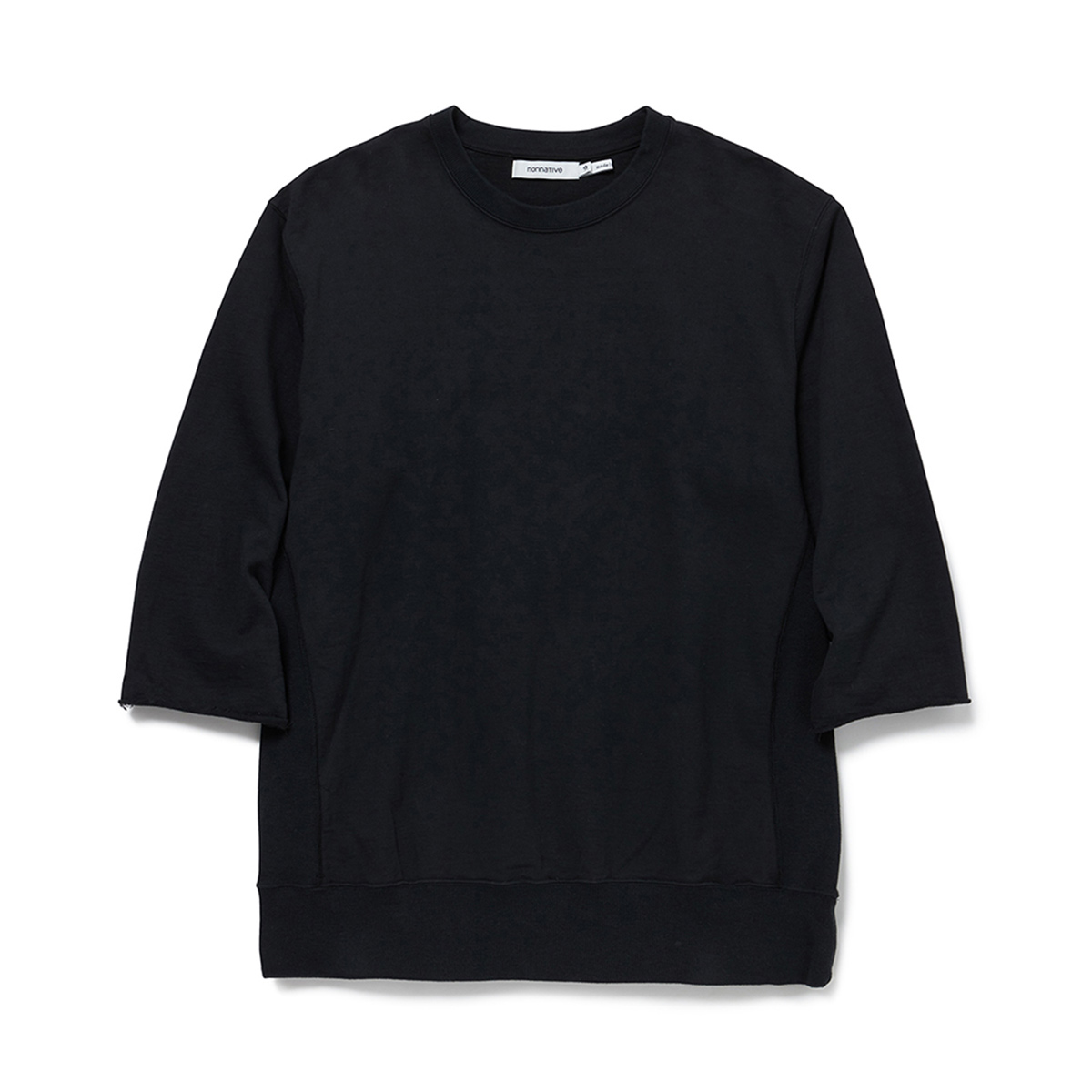 nonnative / COACH CREW PULLOVER Q/S C/N SWEAT CORDURA -Black
