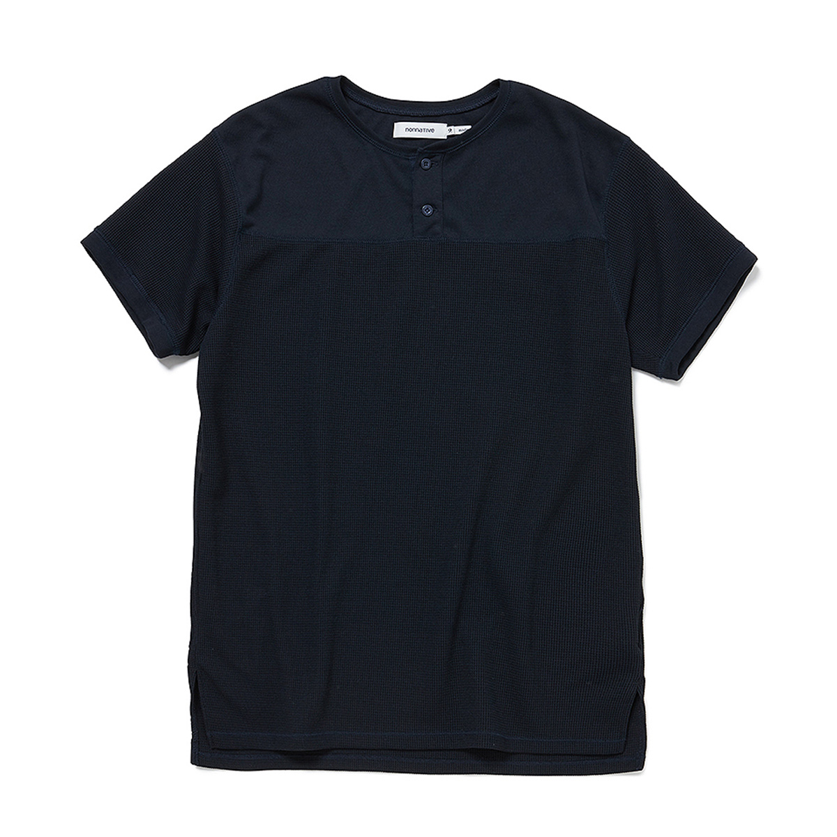 nonnative / HUNTER HENLEY NECK S/S TEE POLY THERMAL -Navy