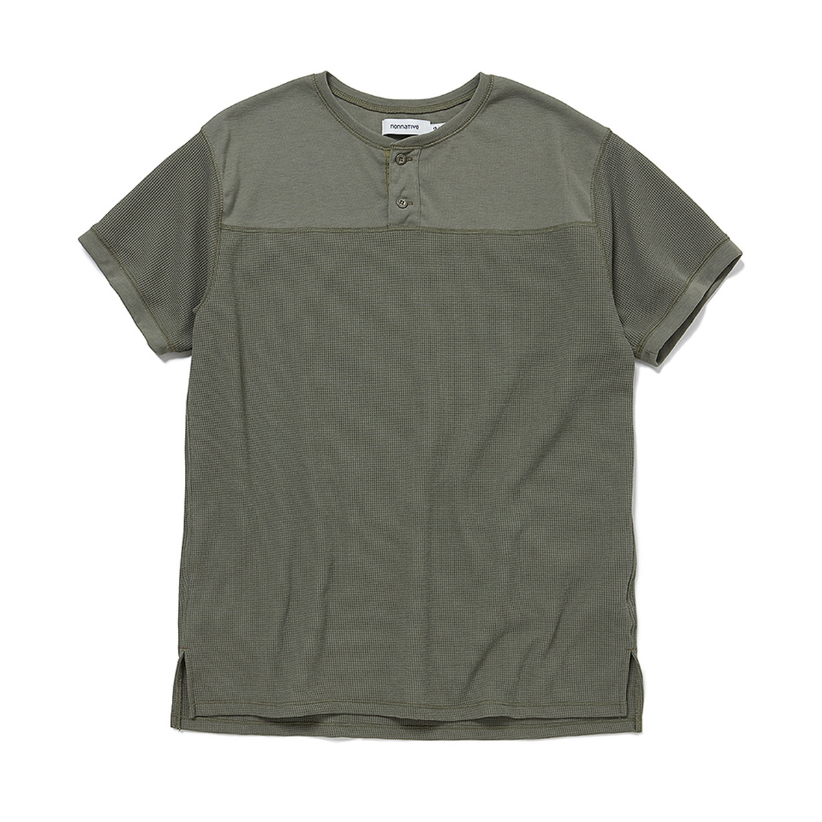 nonnative / HUNTER HENLEY NECK S/S TEE POLY THERMAL -Olive