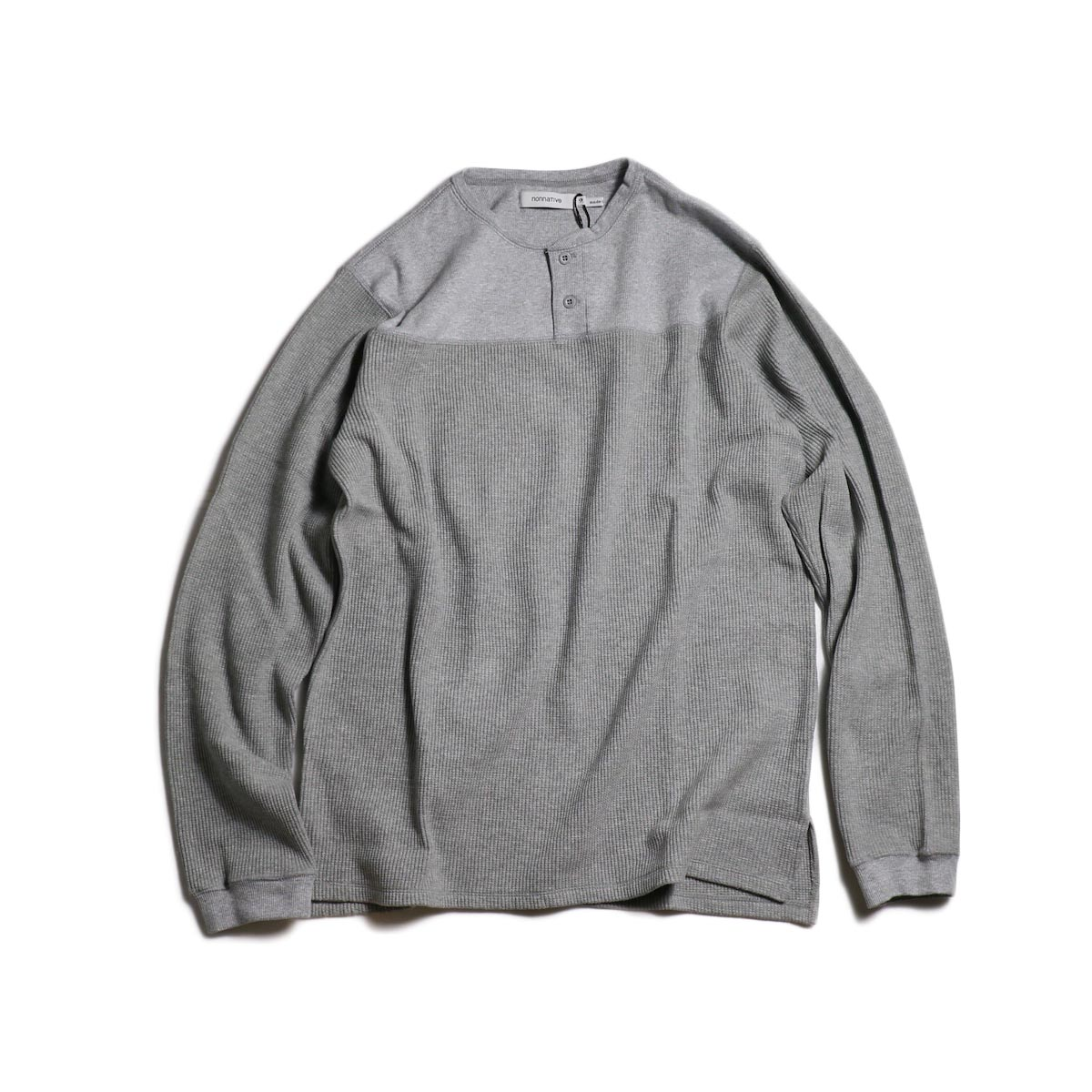 nonnative / HUNTER HENLEY NECK L/S TEE C/P THERMAL -Gray