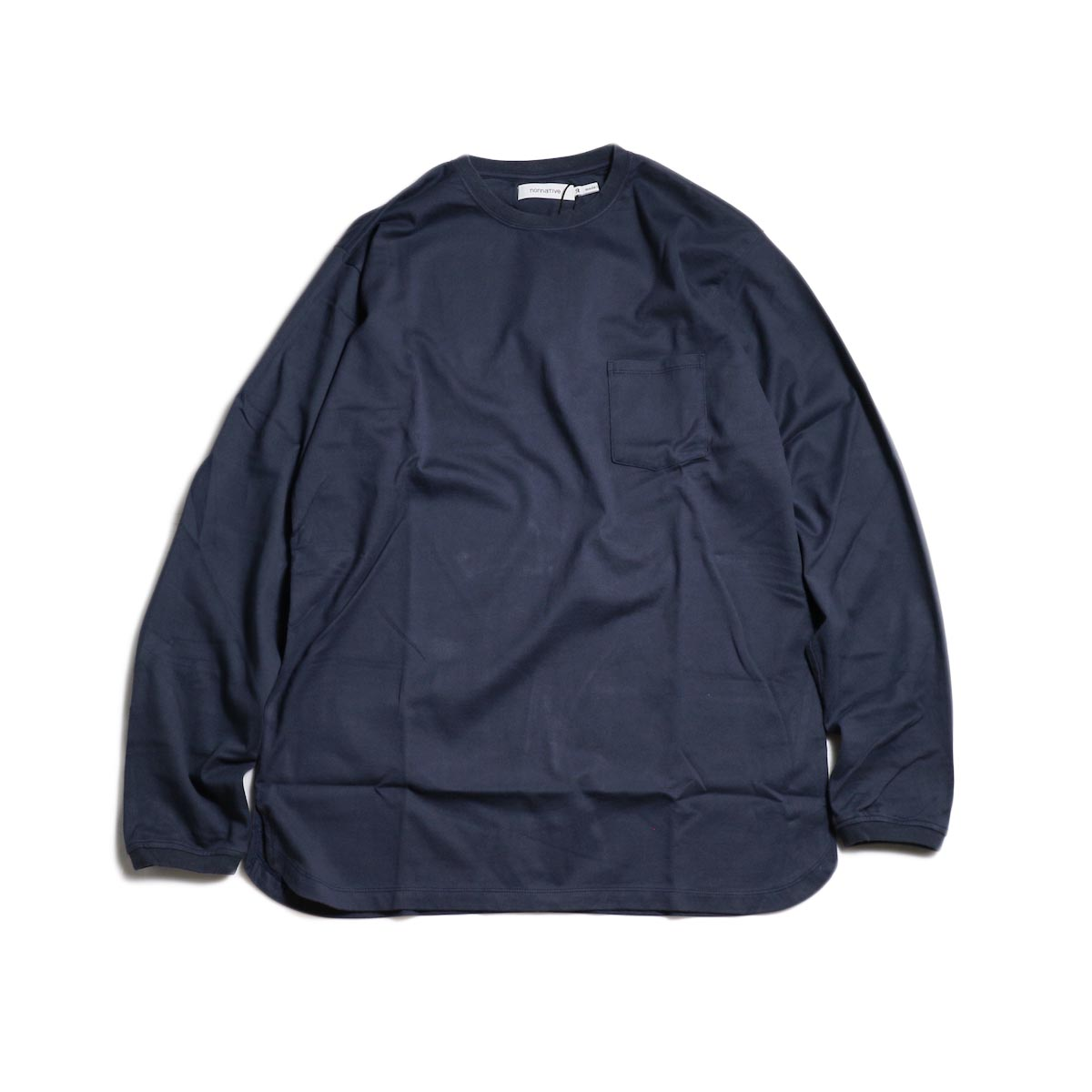 nonnative / DWELLER L/S TEE COTTON JERSEY -Navy