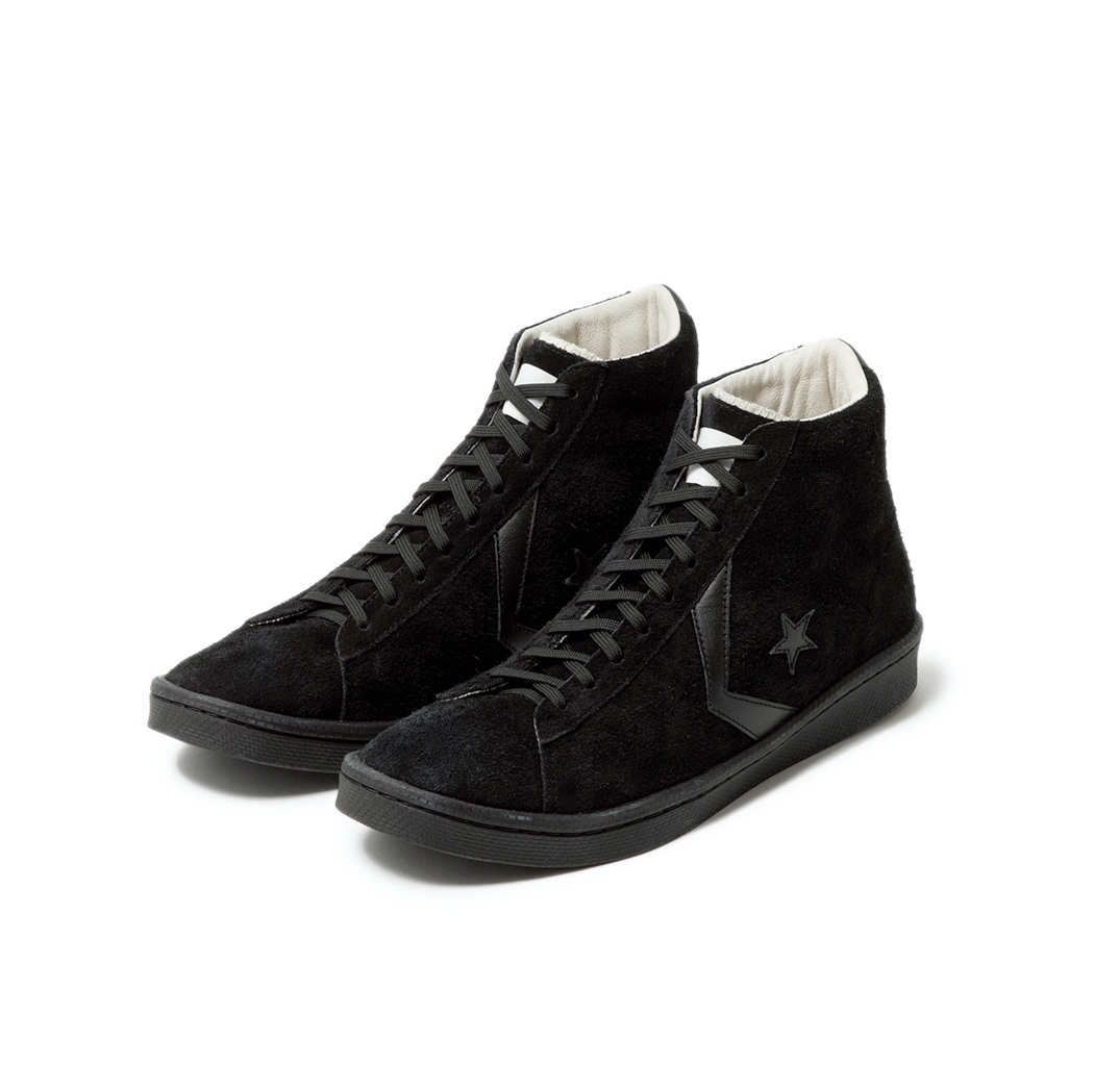 nonnative × CONVERSE / PRO-LEATHER HI (Black)正面
