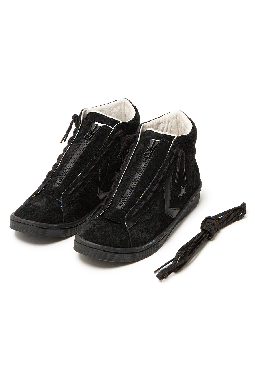 nonnative × CONVERSE / PRO-LEATHER HI (Black)シューレース