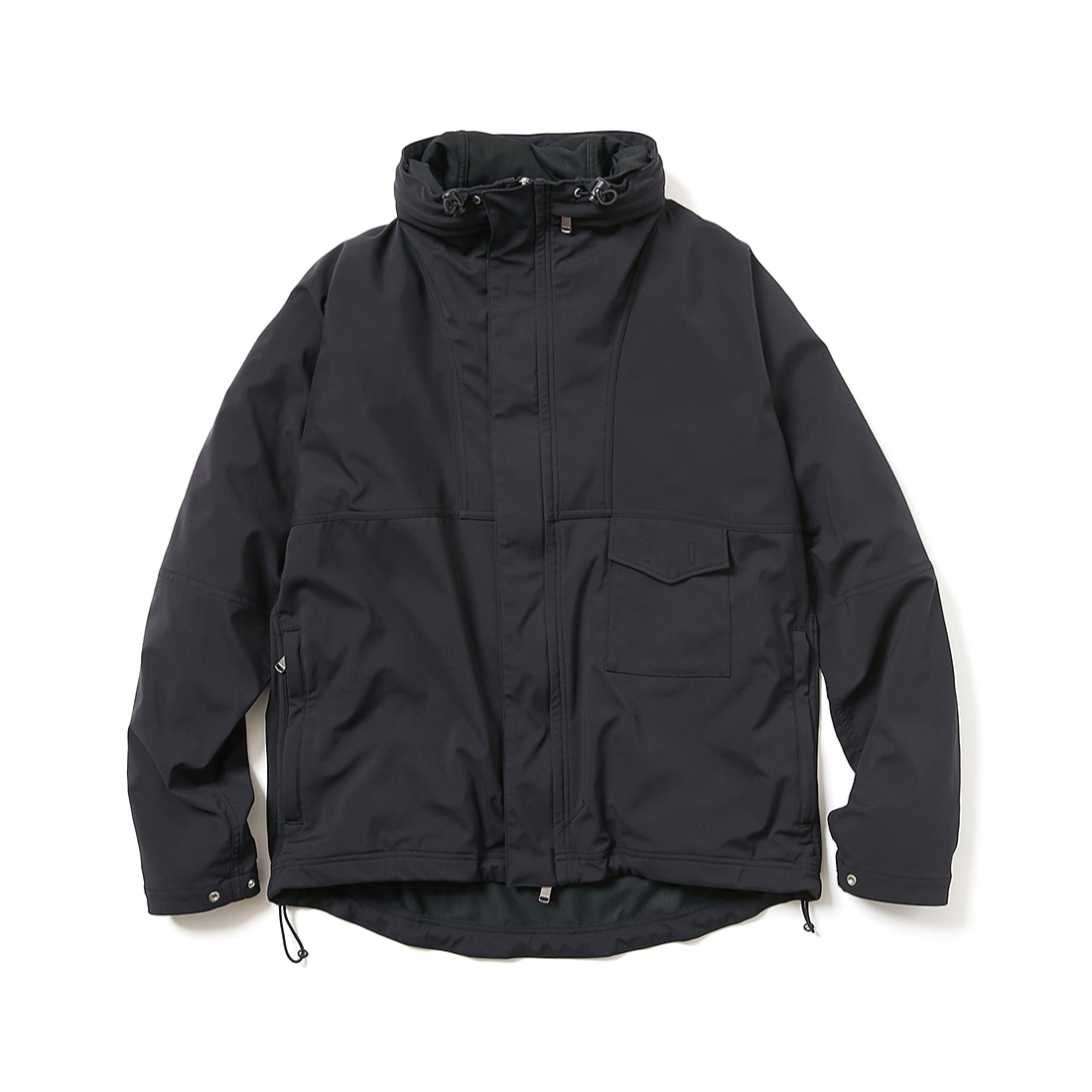 nonnative / CYCLIST JACKET N/P TAFFETA STRETCH WITH WINDSTOPPER 3L -BLACK