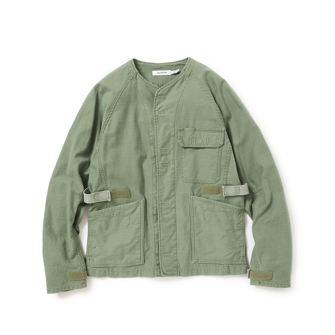nonnative / GARDENER JACKET COTTON BACK SATIN OVERDYED VW -Olive