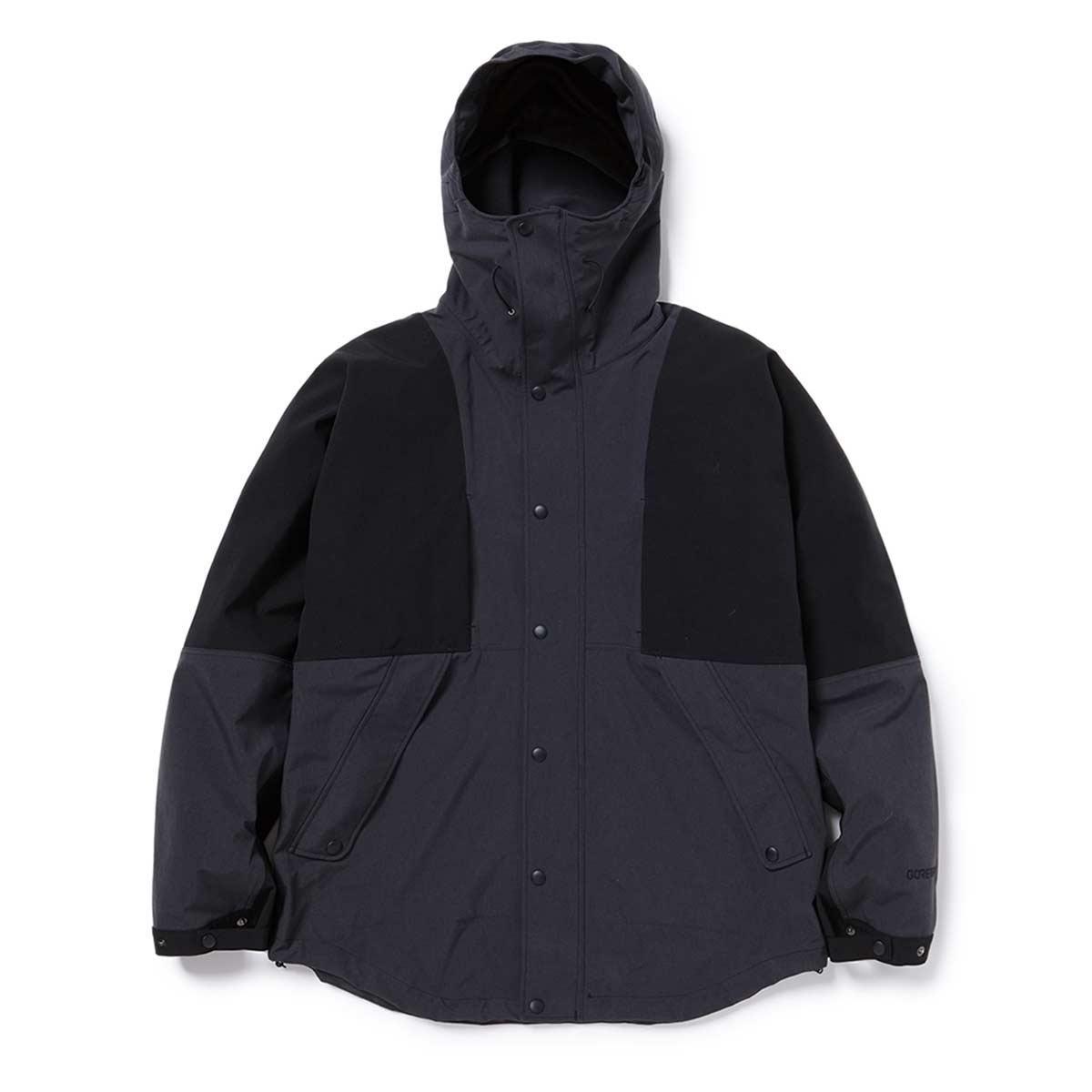 nonnative / ALPINIST HOODED JACKET N/P TAFFETA WITH GORE-TEX 3L -CHARCOAL/BLACK