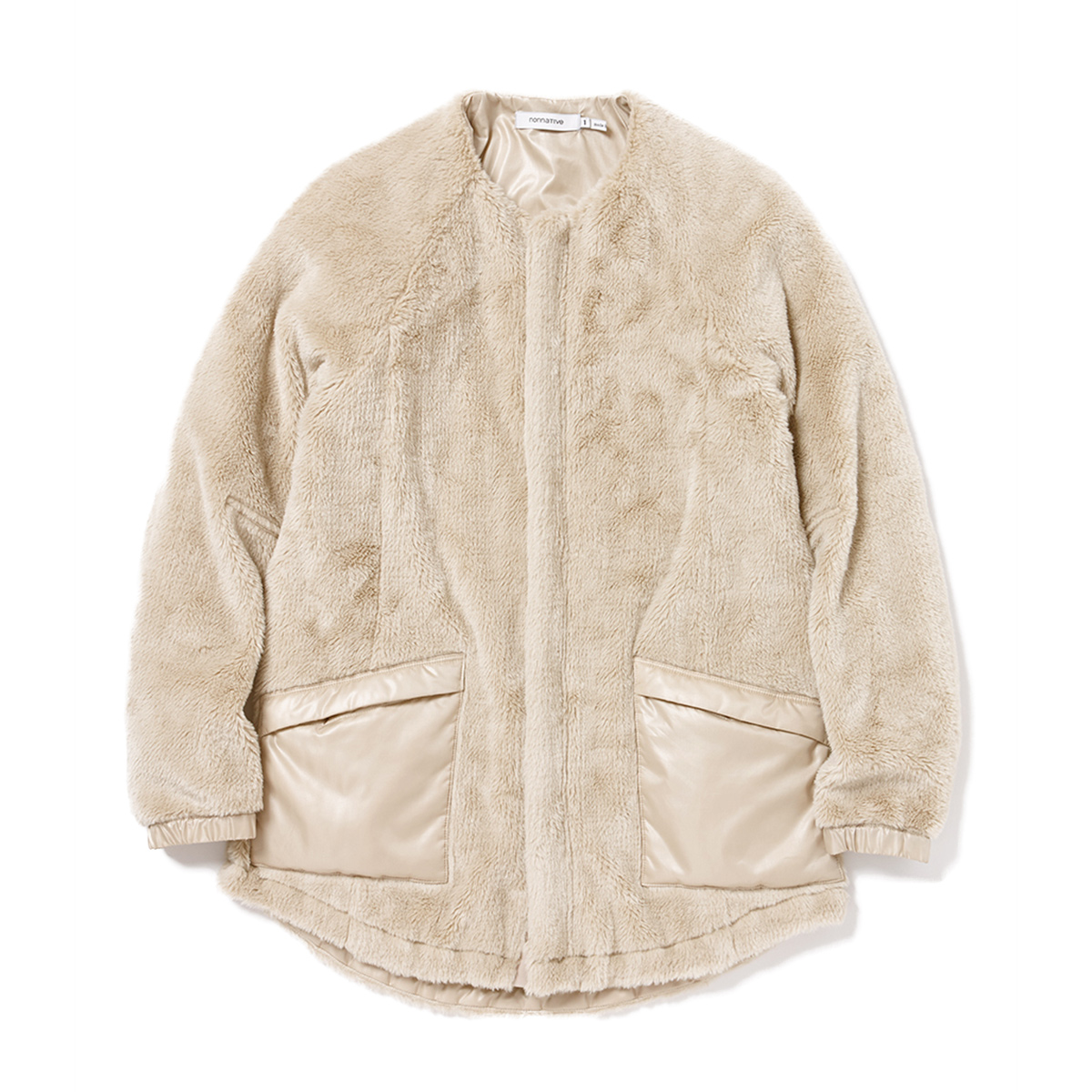 nonnative / SOLDIER LONG CARDIGAN ACRYL HIGH PILE -BEIGE