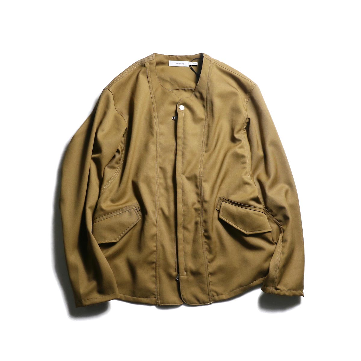 nonnative / SOLDIER JACKET WOOL TWILL -Beige 正面