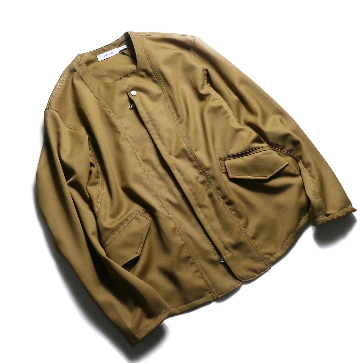 nonnative / SOLDIER JACKET WOOL TWILL -Beige 全体