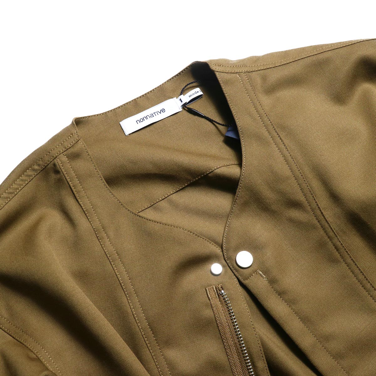 nonnative / SOLDIER JACKET WOOL TWILL -Beige 襟