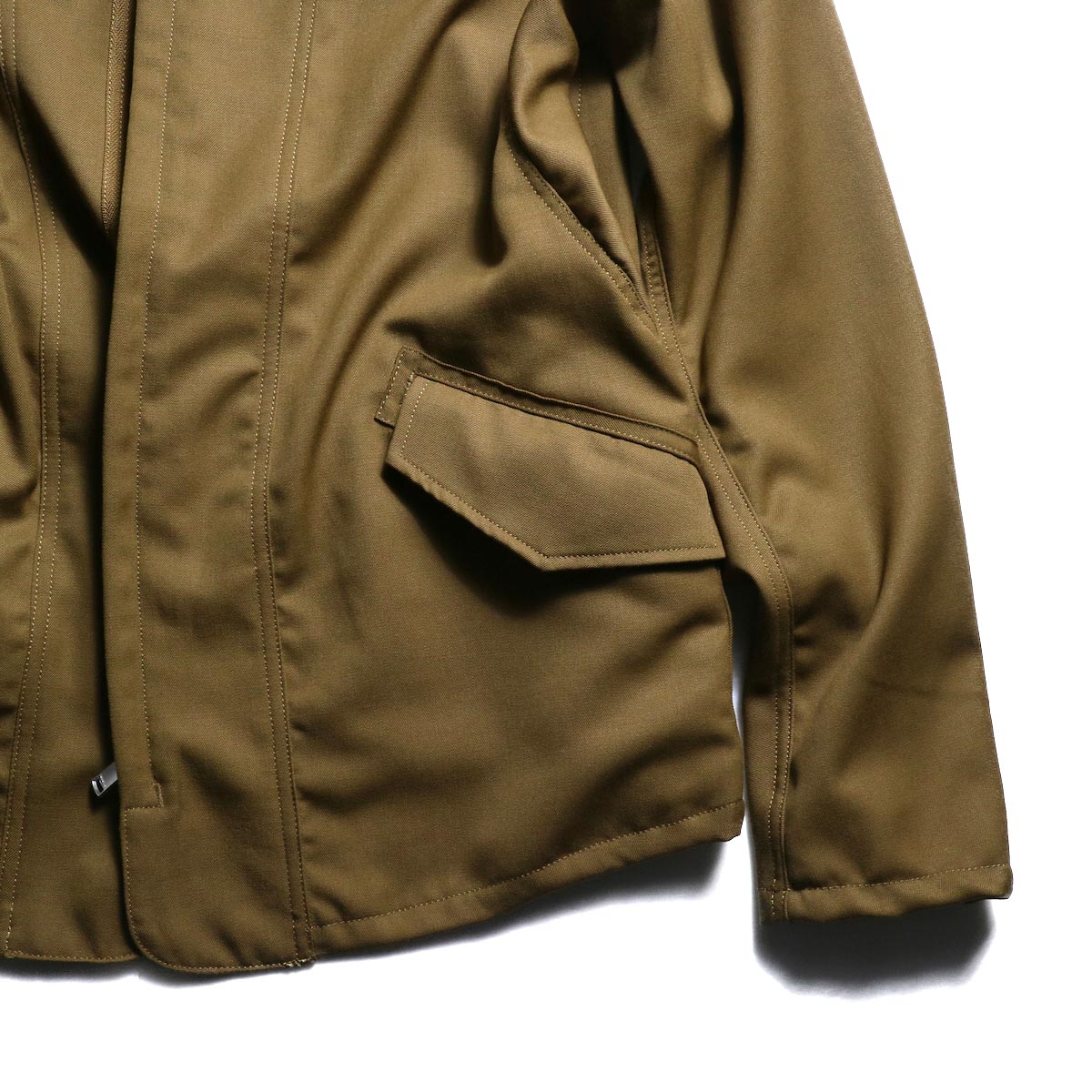 nonnative / SOLDIER JACKET WOOL TWILL -Beige 裾