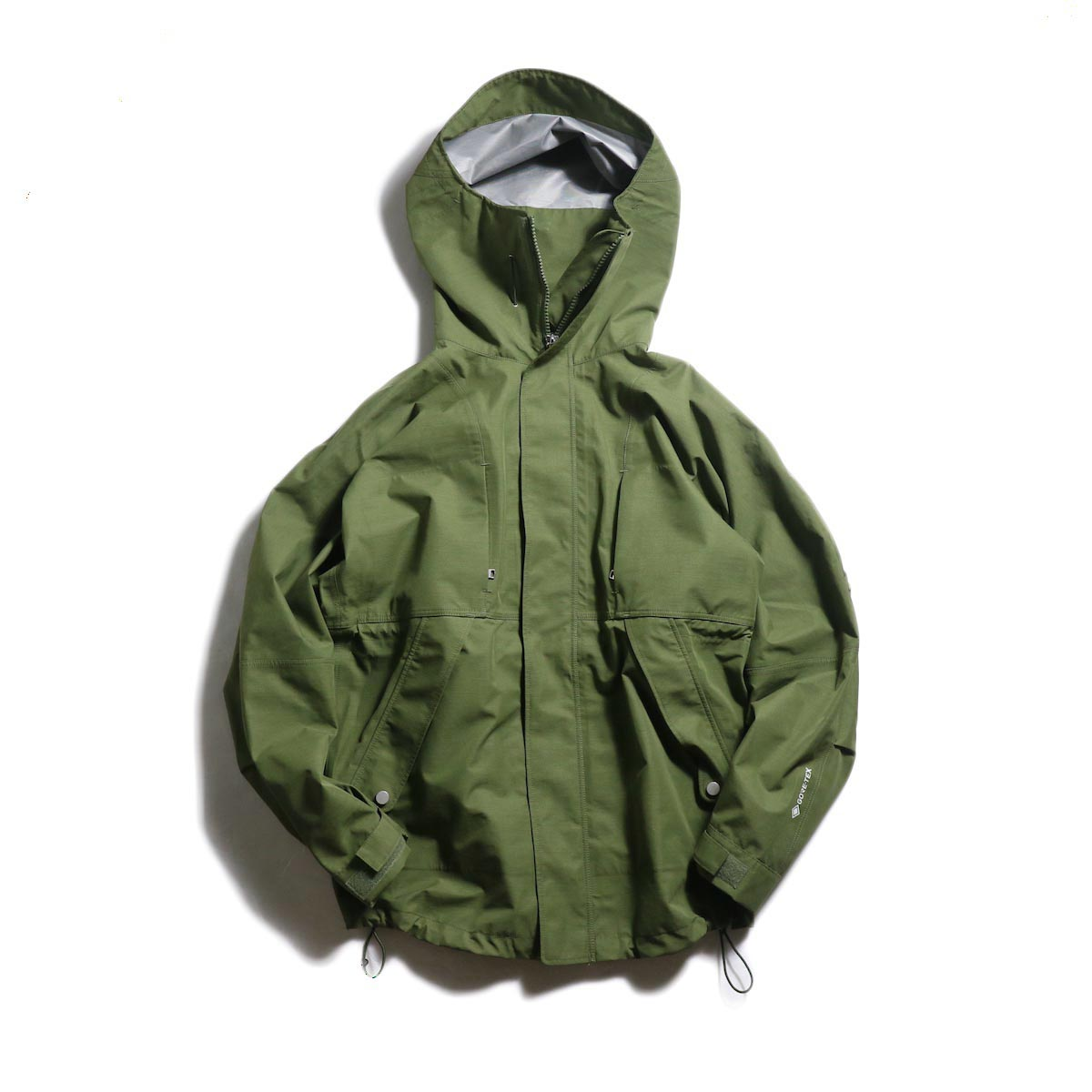 nonnative / HIKER HOODED JACKET POLY PIQUE WITH GORE-TEX® 3L (Olive)