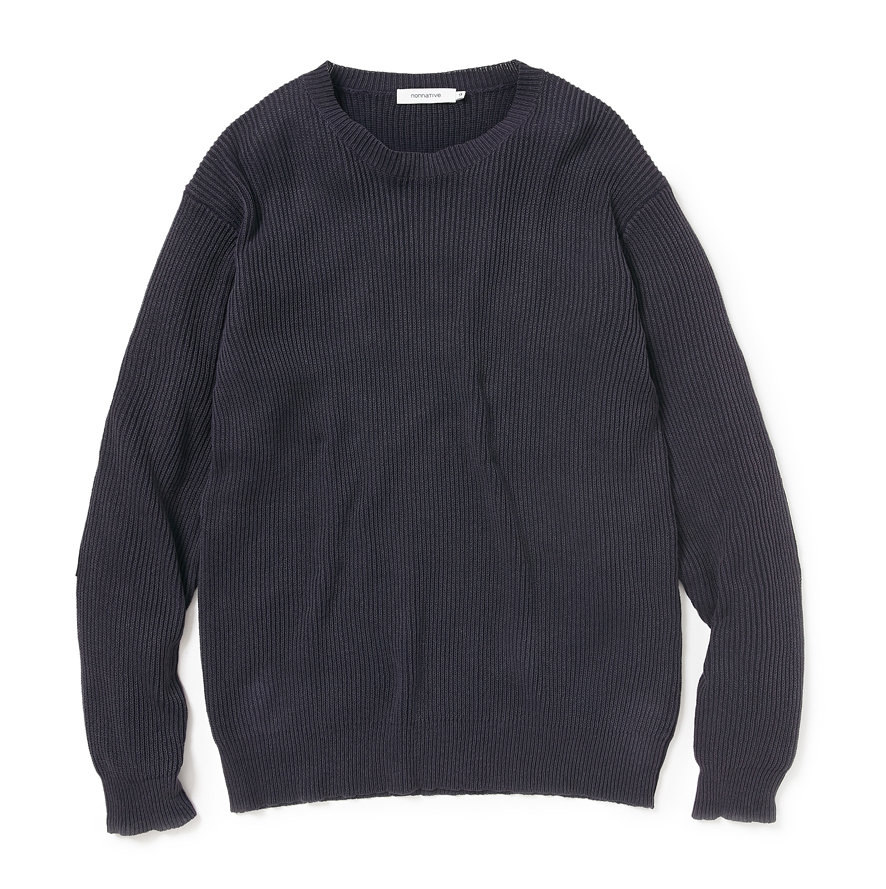 nonnative / GARDENER SWEATER COTTON YARN VW OVERDYED -navy