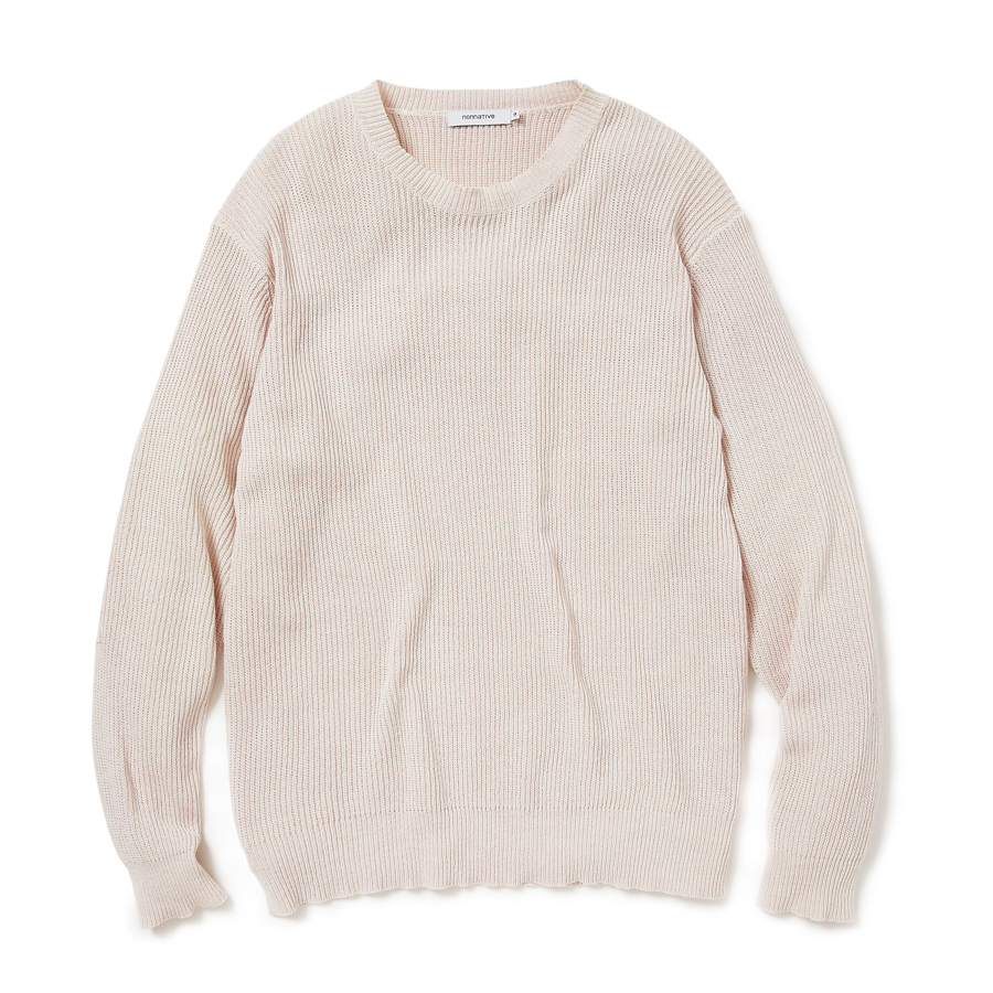 nonnative / GARDENER SWEATER COTTON YARN VW OVERDYED -sail