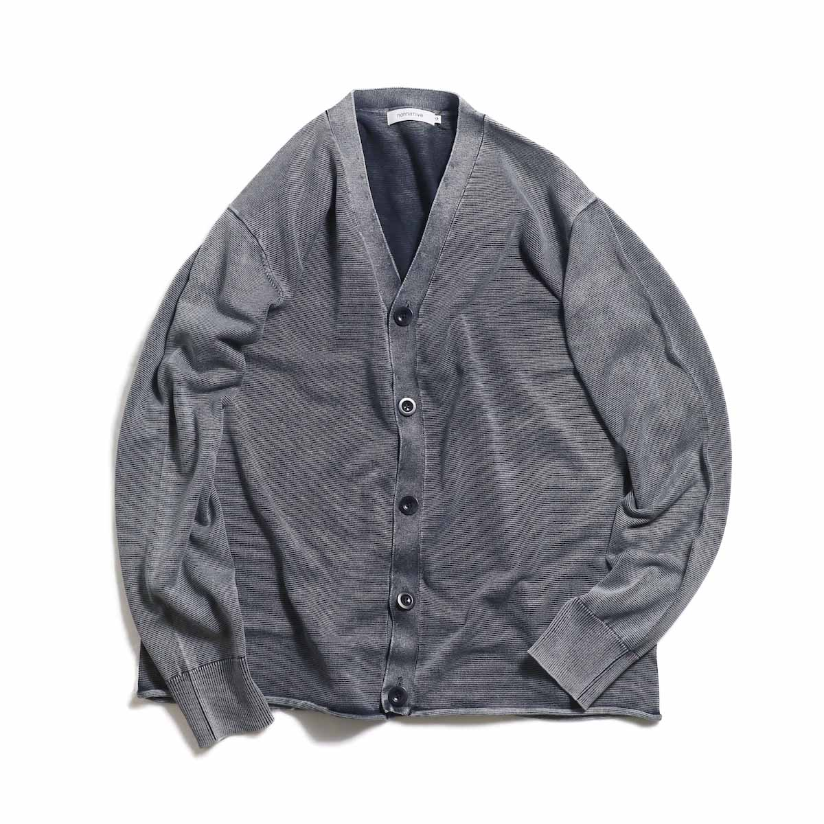 nonnative / HUNTER CARDIGAN COTTON YARN VW -Navy