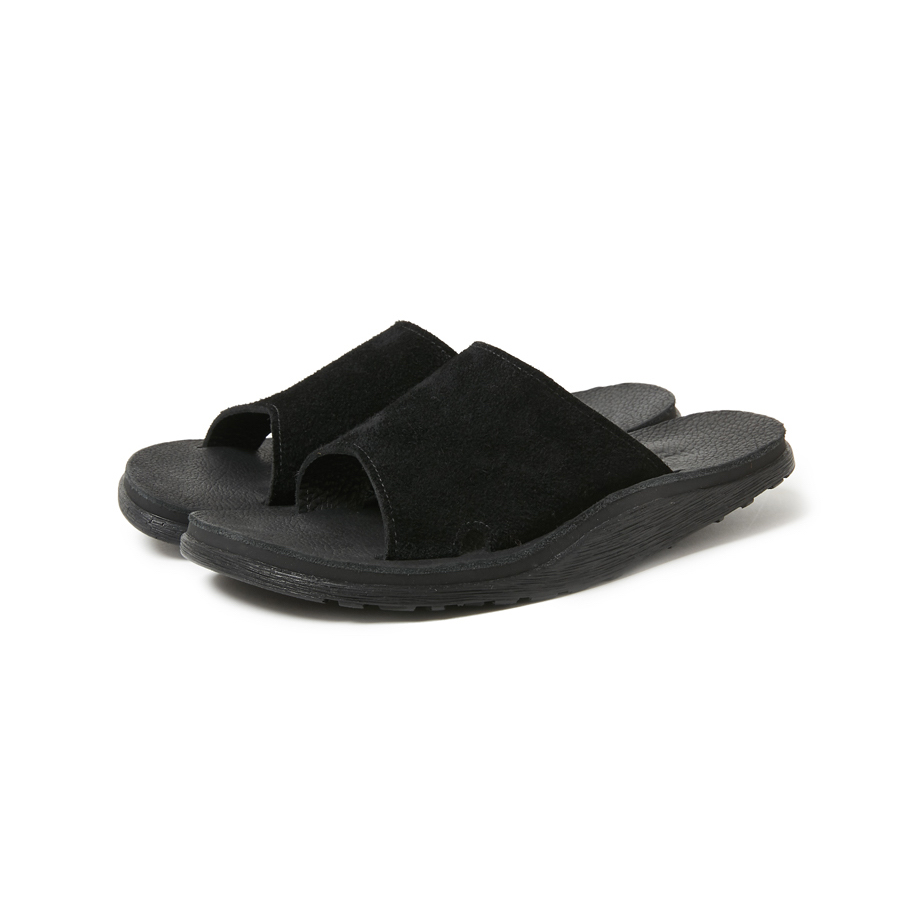 nonnative / HANDYMAN SANDAL COW SUEDE by ISLAND SLIPPER -Black